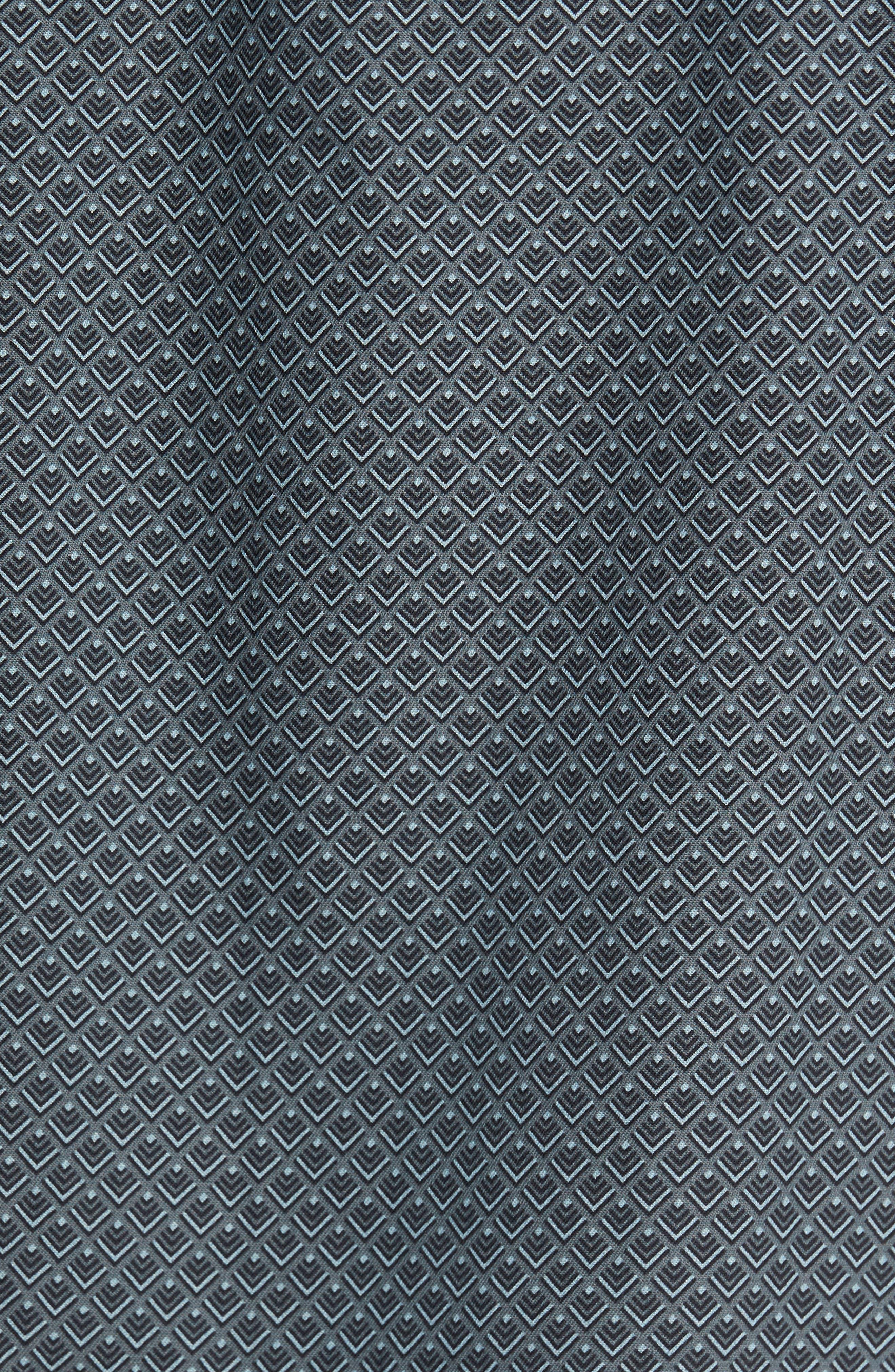 Ajax Classic Fit Silk Blend Camp Shirt,                             Alternate thumbnail 5, color,                             001