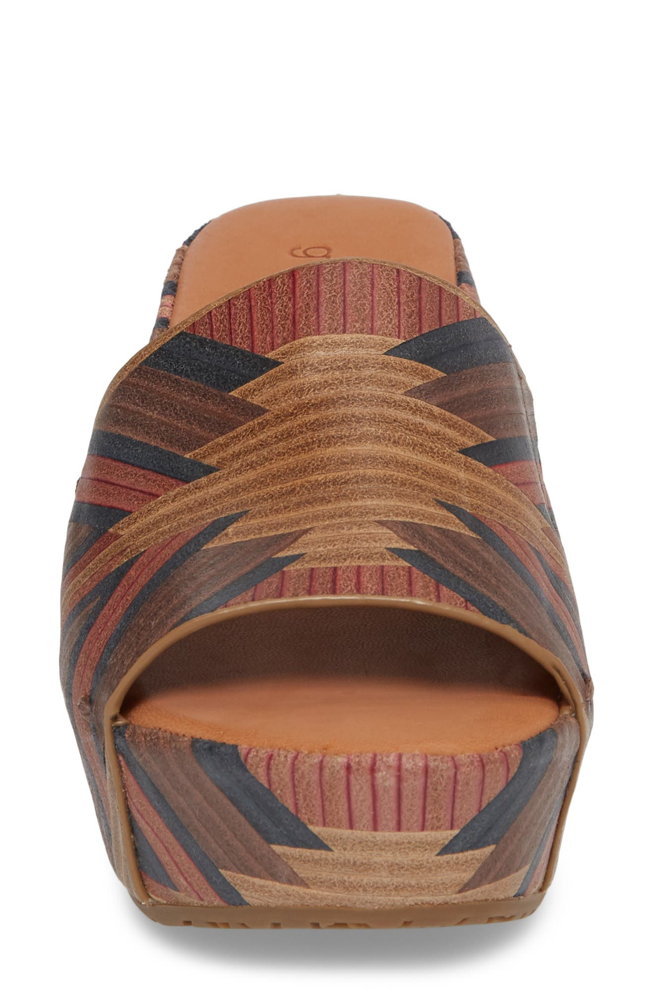 by Kenneth Cole Forella Slide Sandal,                             Alternate thumbnail 4, color,                             BROWN MULTI LEATHER