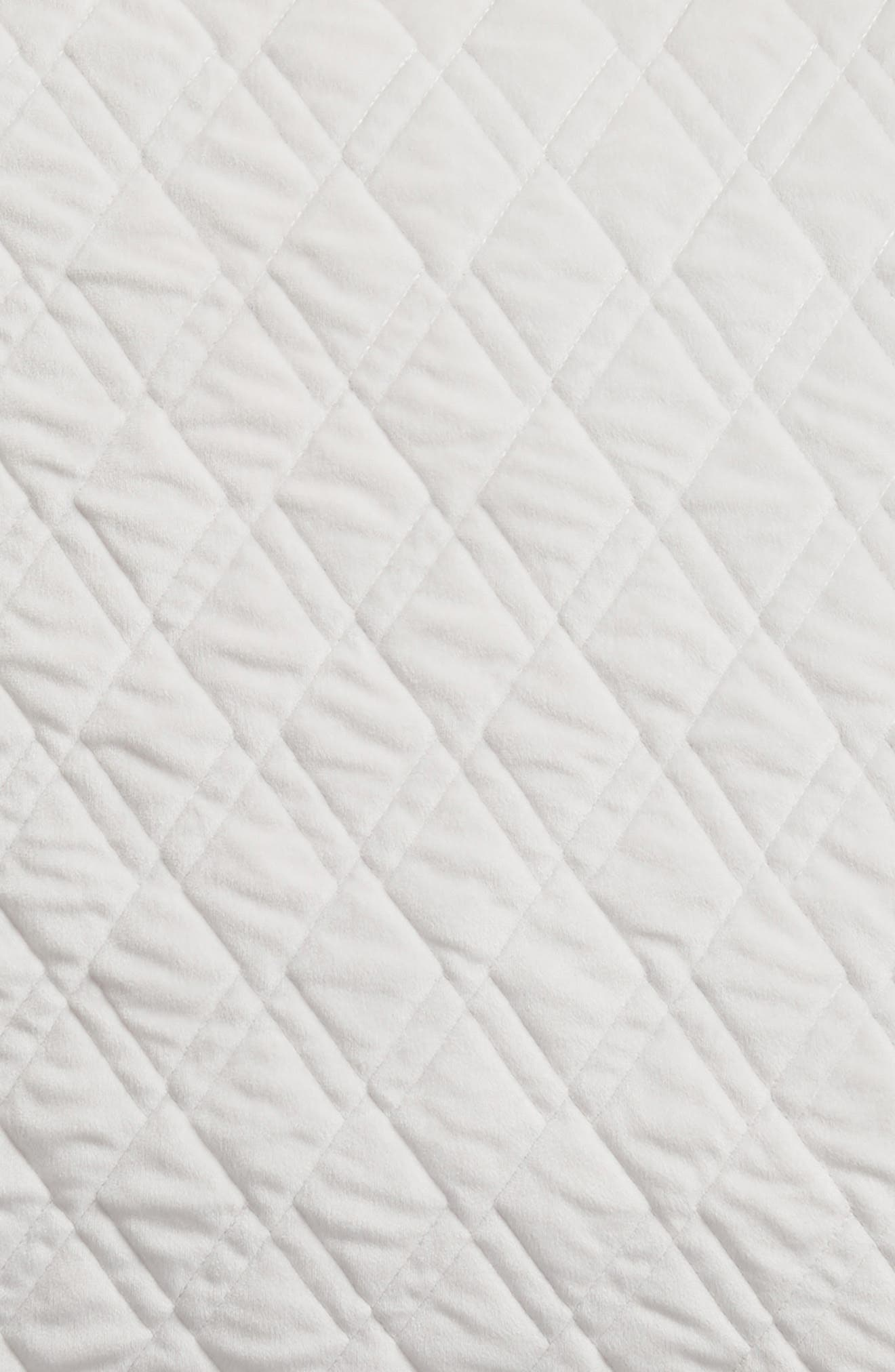 Karlina Quilted Euro Sham,                             Alternate thumbnail 3, color,                             GREY VAPOR