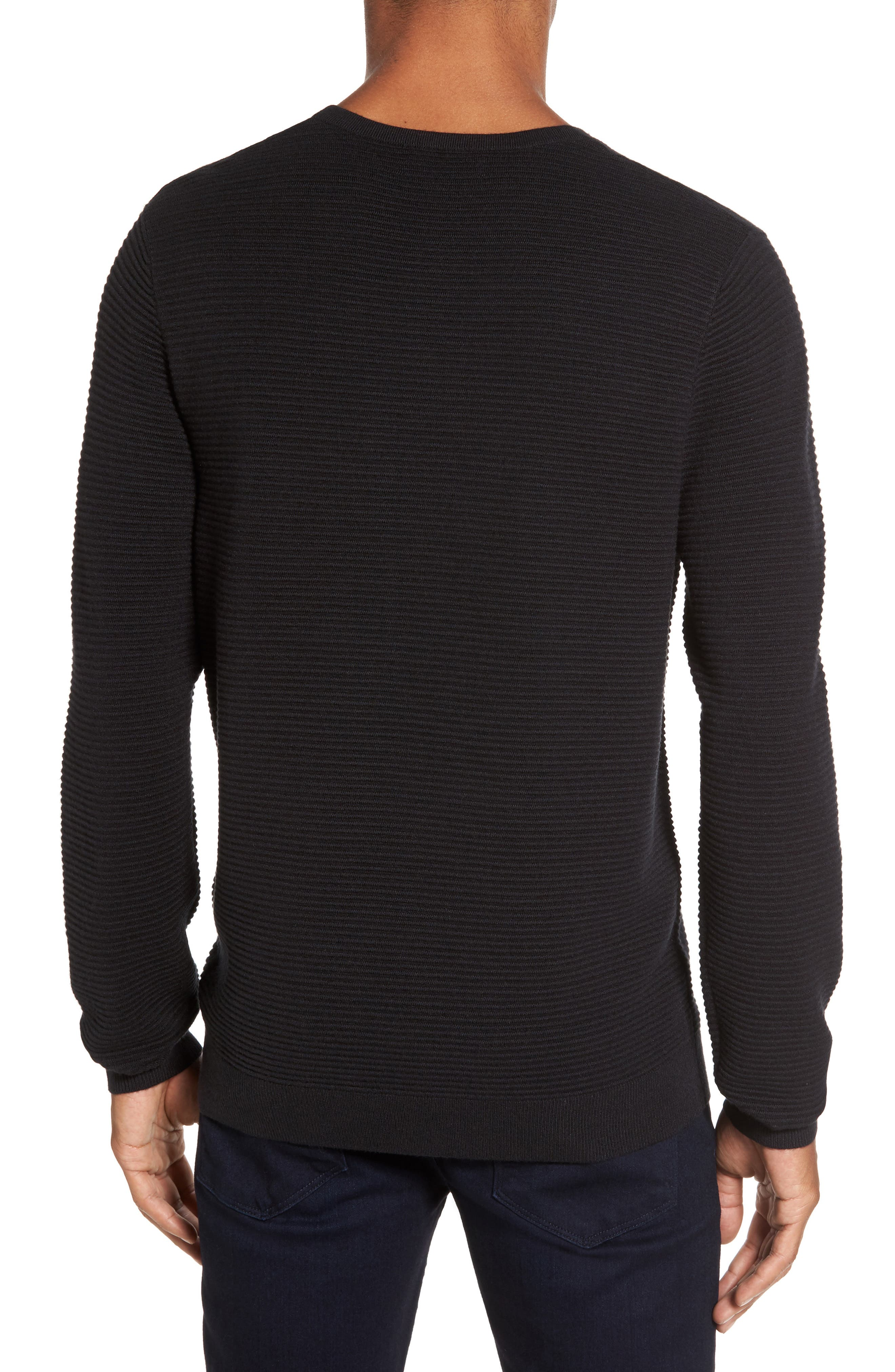 Ottoman Ribbed Crewneck Sweater,                             Alternate thumbnail 4, color,