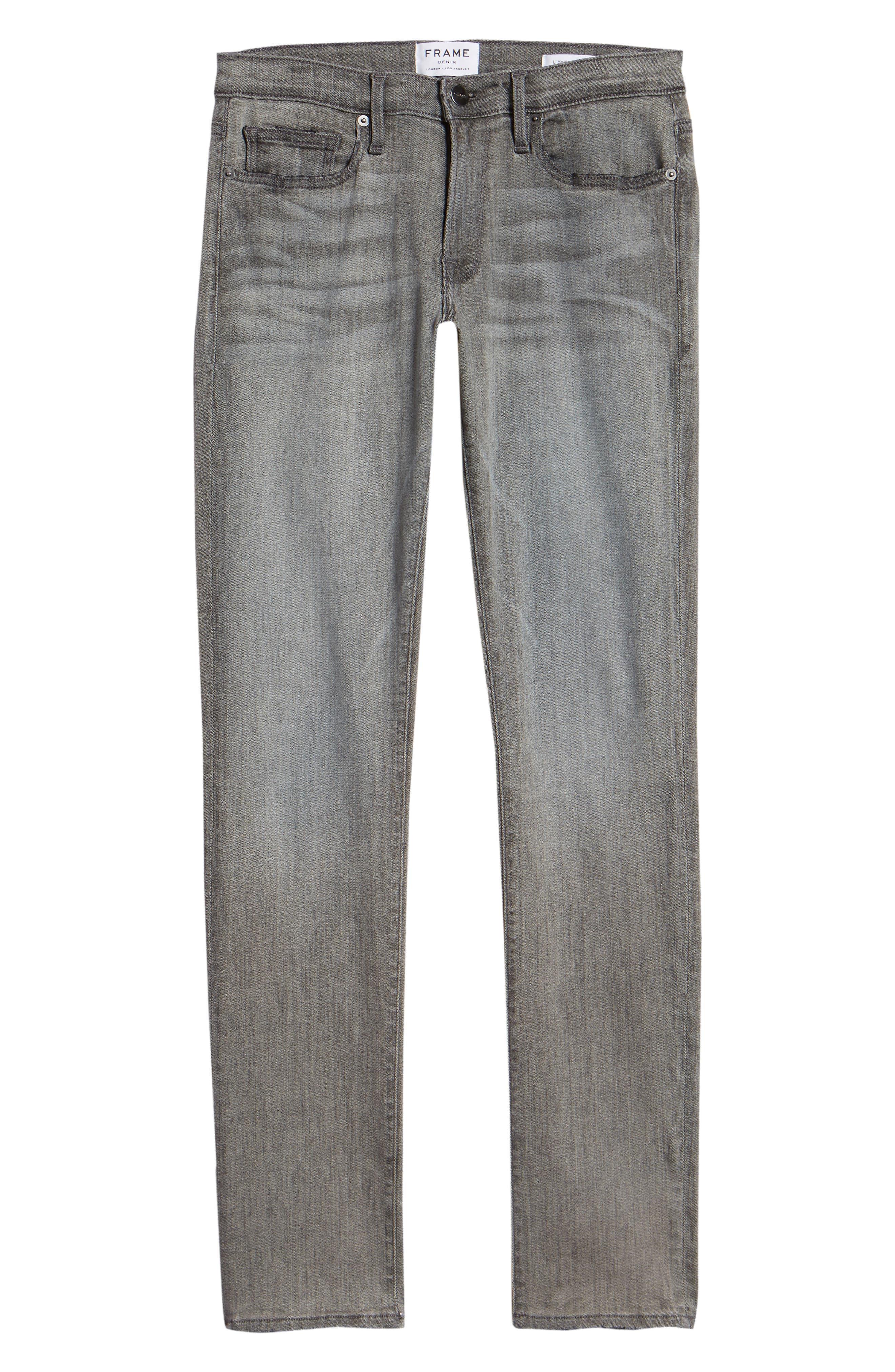 L'Homme Skinny Skinny Fit Jeans,                             Alternate thumbnail 6, color,                             FORT MCHEN