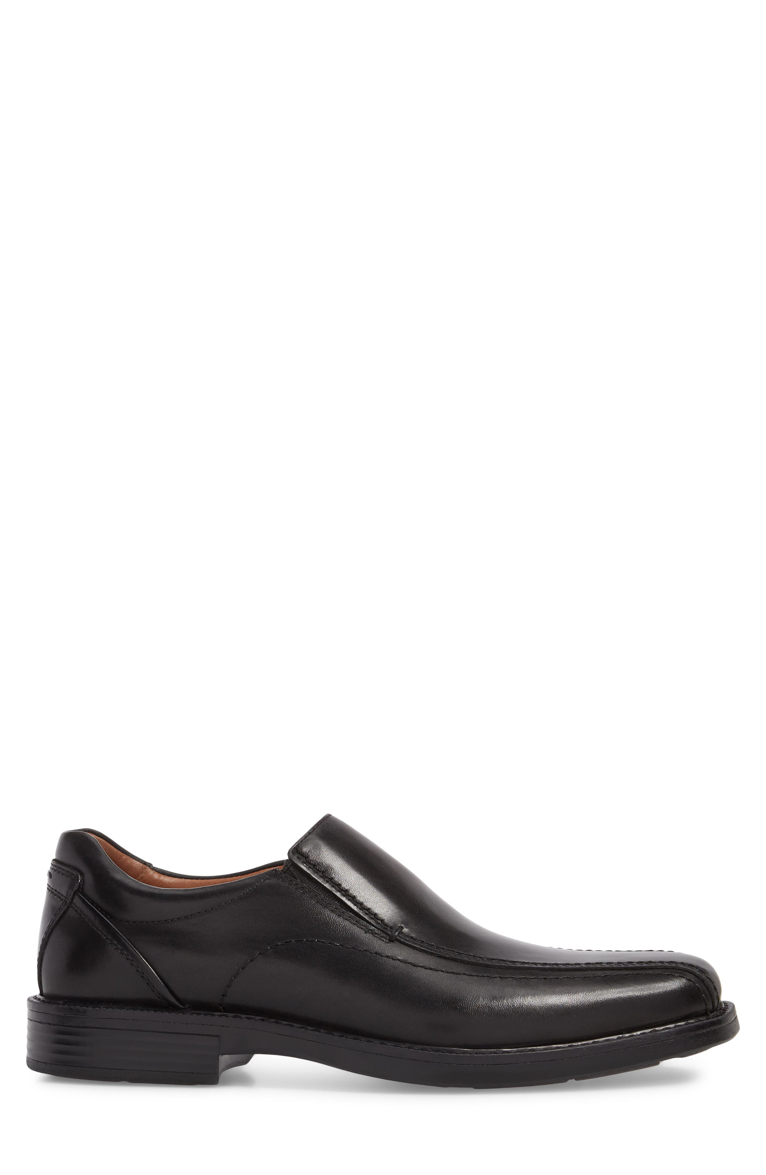 Stanton Runoff XC4<sup>®</sup> Waterproof Bike Toe Slip-On,                             Alternate thumbnail 3, color,                             BLACK LEATHER