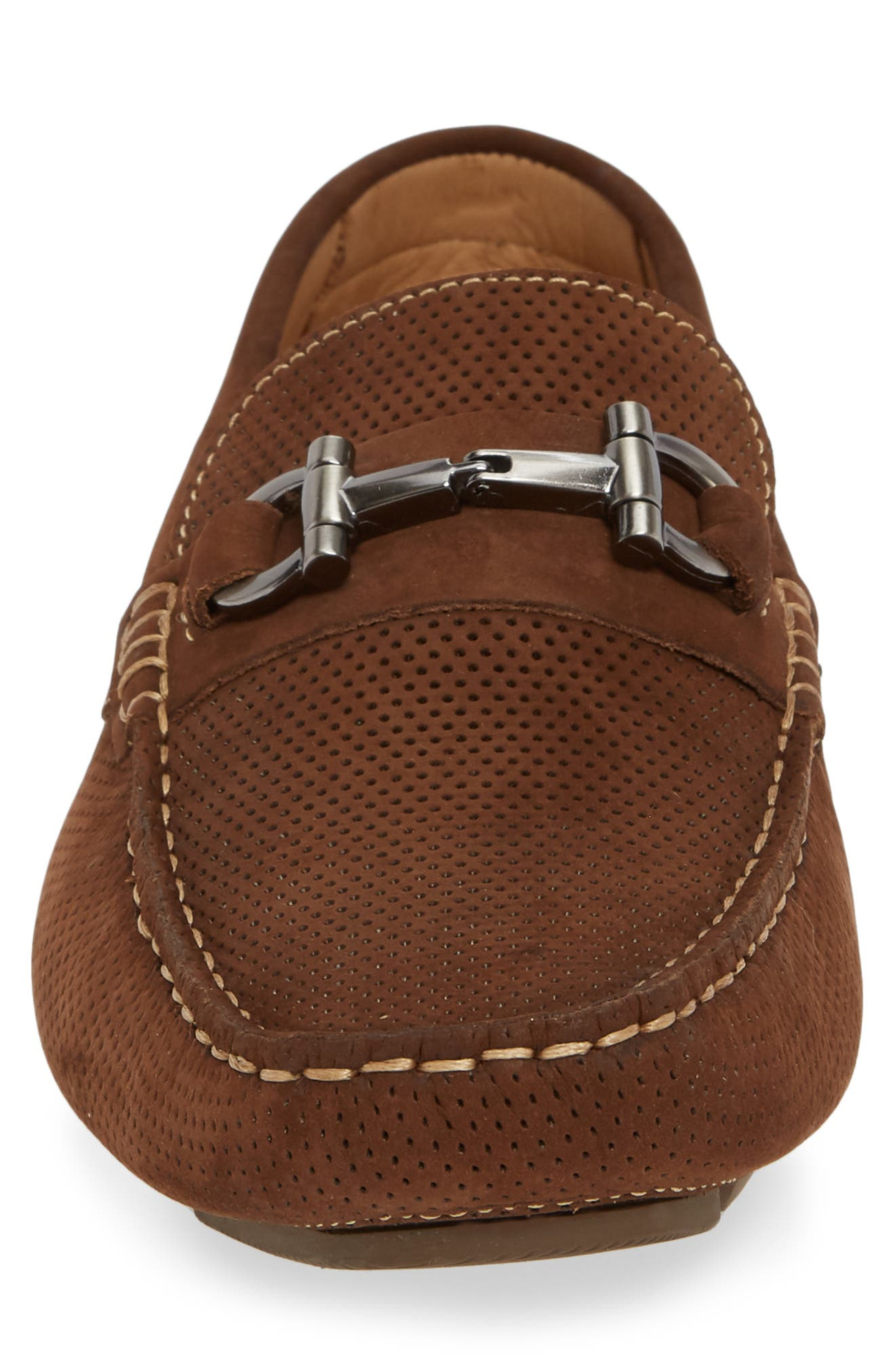 Avalon Driving Shoe,                             Alternate thumbnail 4, color,                             BROWN NUBUCK
