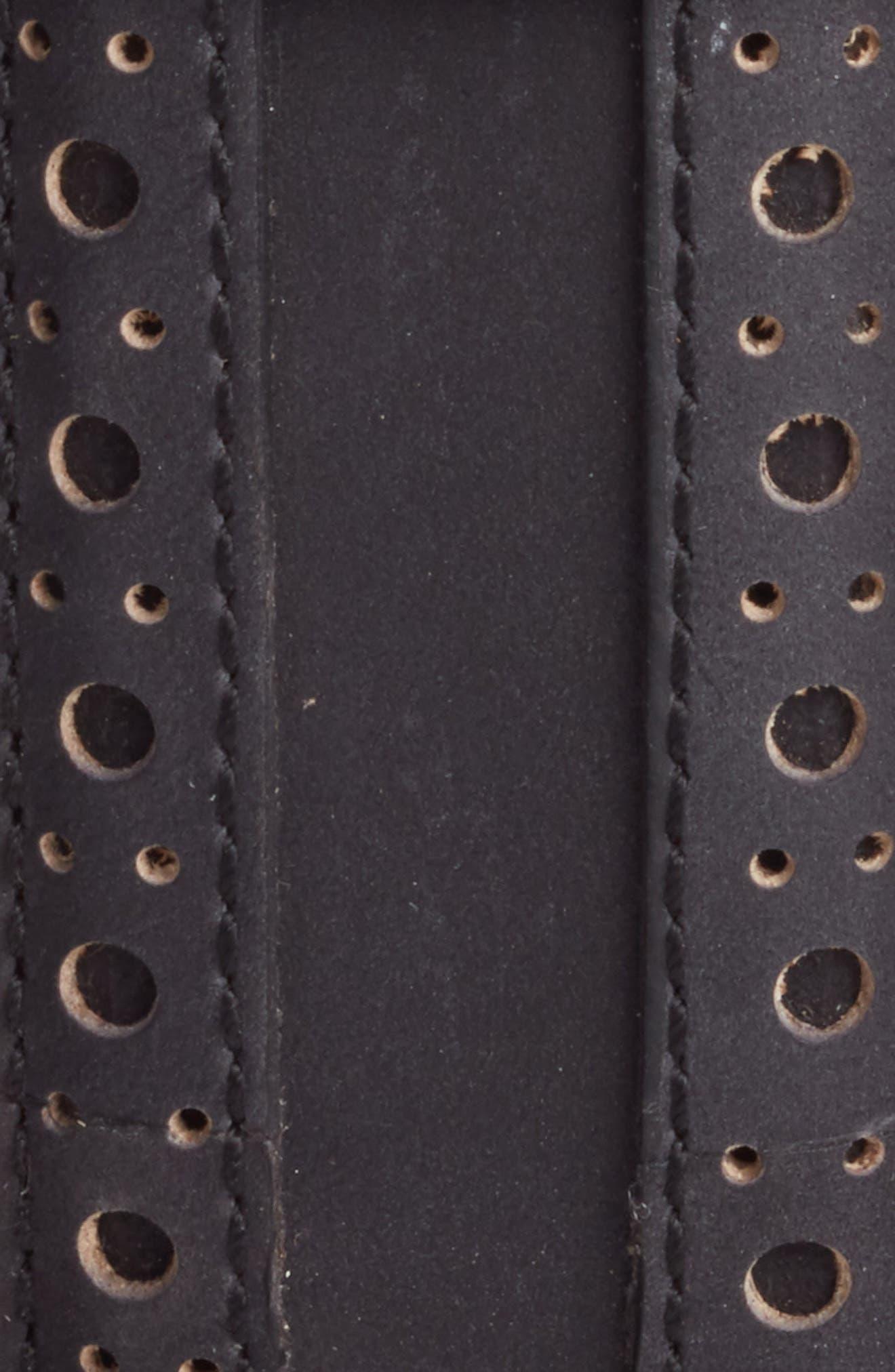 COLE HAAN,                             Brogue Nubuck Leather Belt,                             Alternate thumbnail 2, color,                             001
