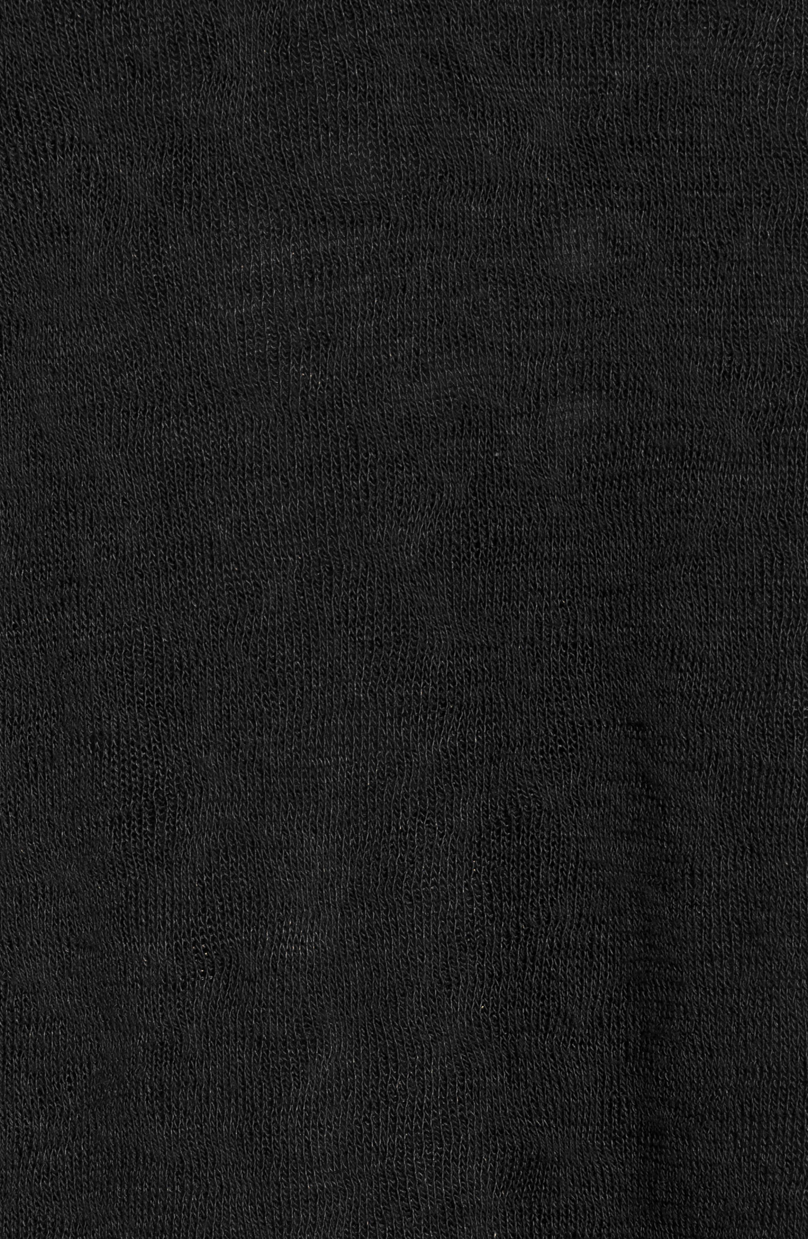Jessica Twist Hem Slub Tee,                             Alternate thumbnail 6, color,                             BLACK