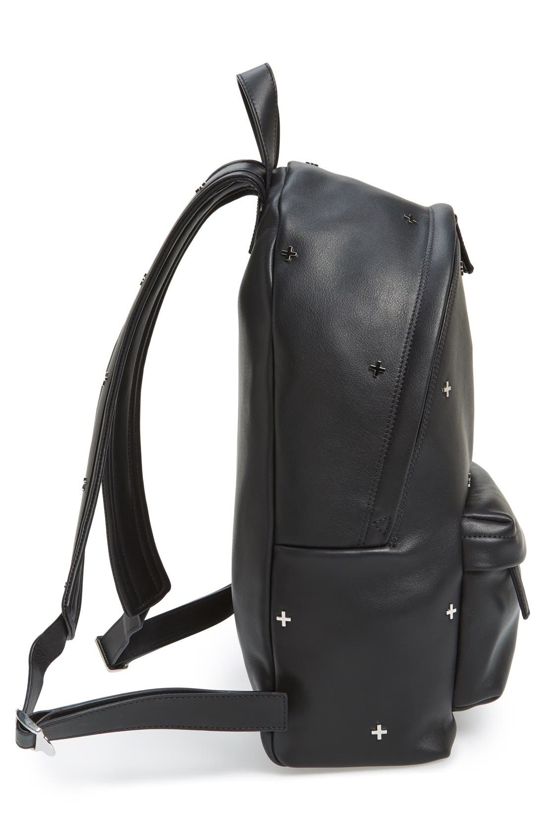 GIVENCHY,                             Metal Cross Embellished Calfskin Leather Backpack,                             Alternate thumbnail 2, color,                             001