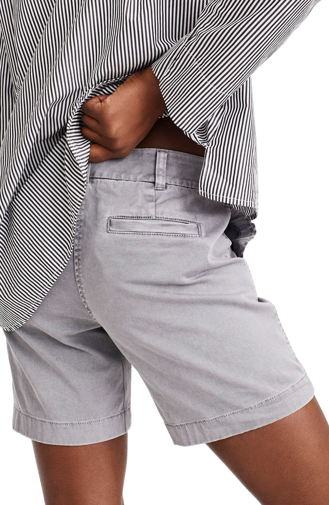 Stretch Cotton Chino Shorts,                             Alternate thumbnail 5, color,
