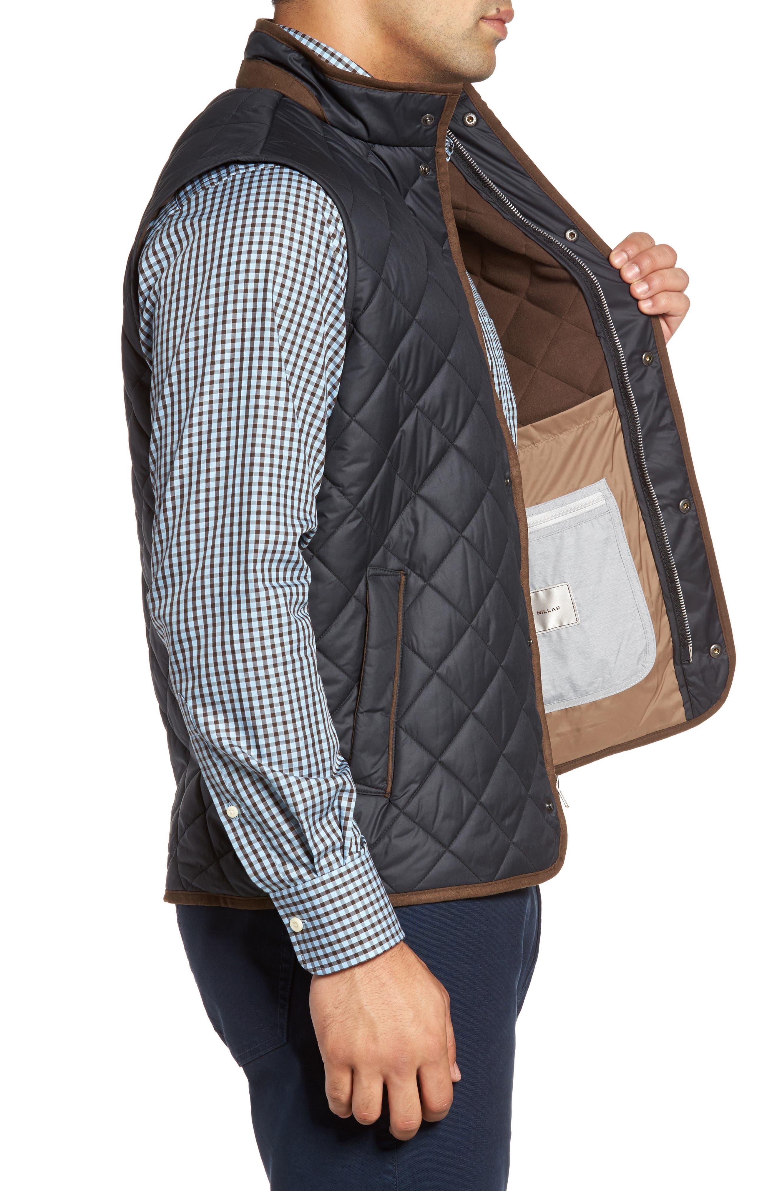 Essex Quilted Vest,                             Alternate thumbnail 3, color,                             BLACK / BLACK