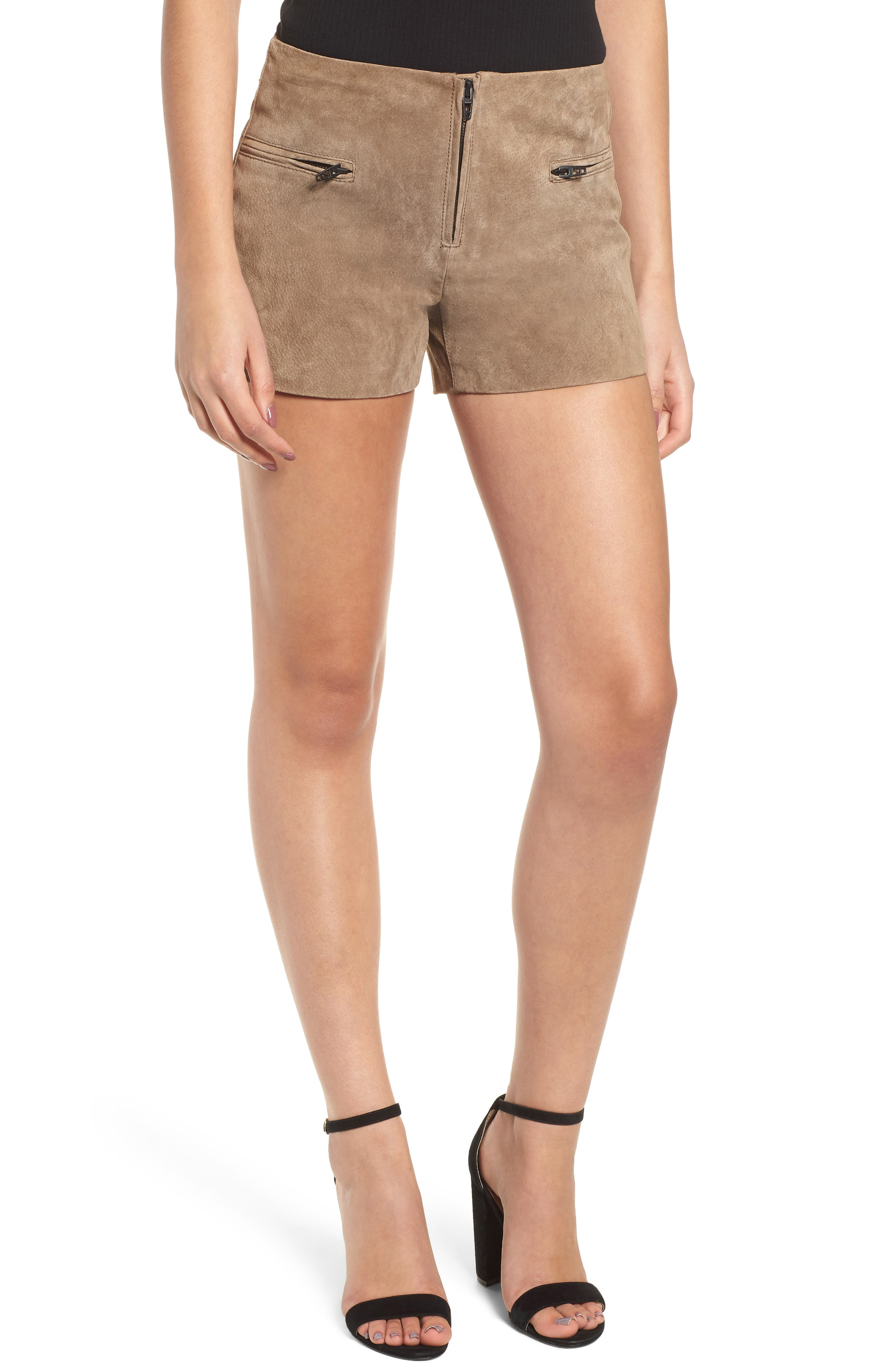 Suede Shorts,                         Main,                         color, MIDNIGHT TOKER