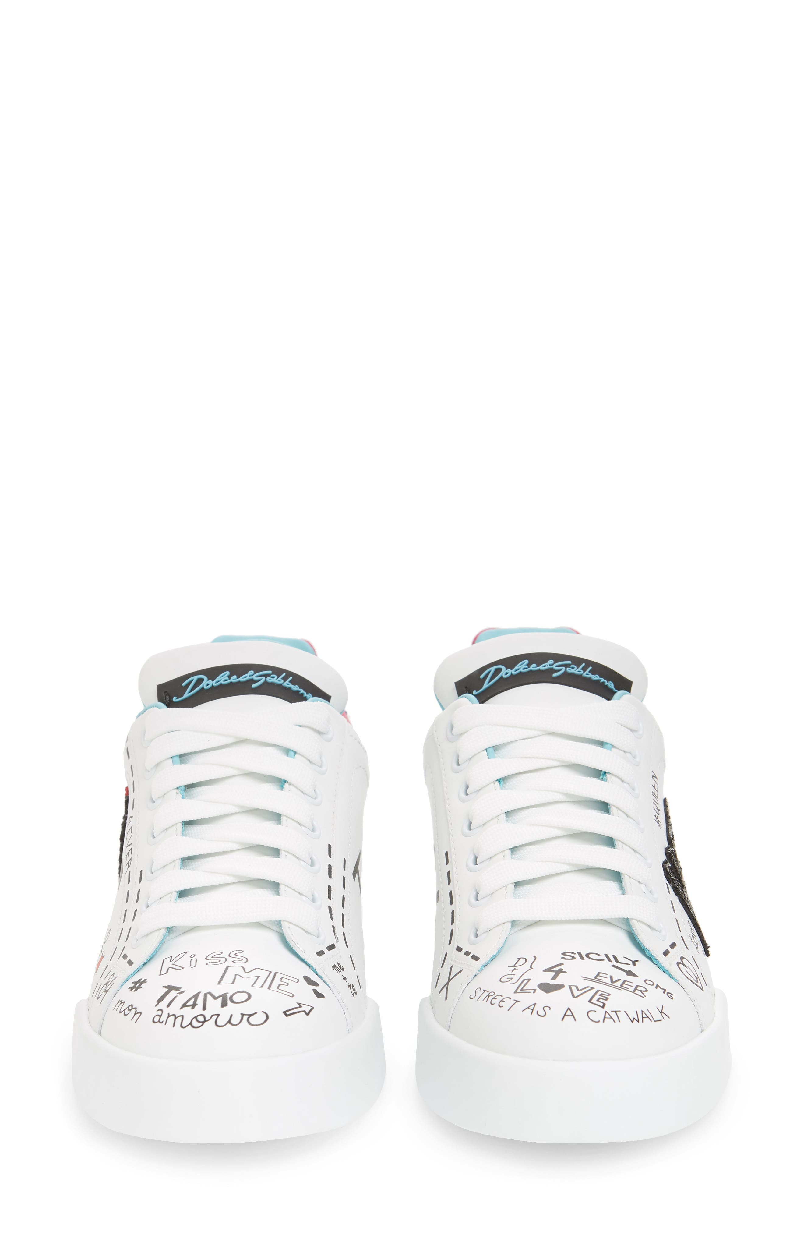 Love Lace-Up Sneaker,                             Alternate thumbnail 5, color,                             WHITE