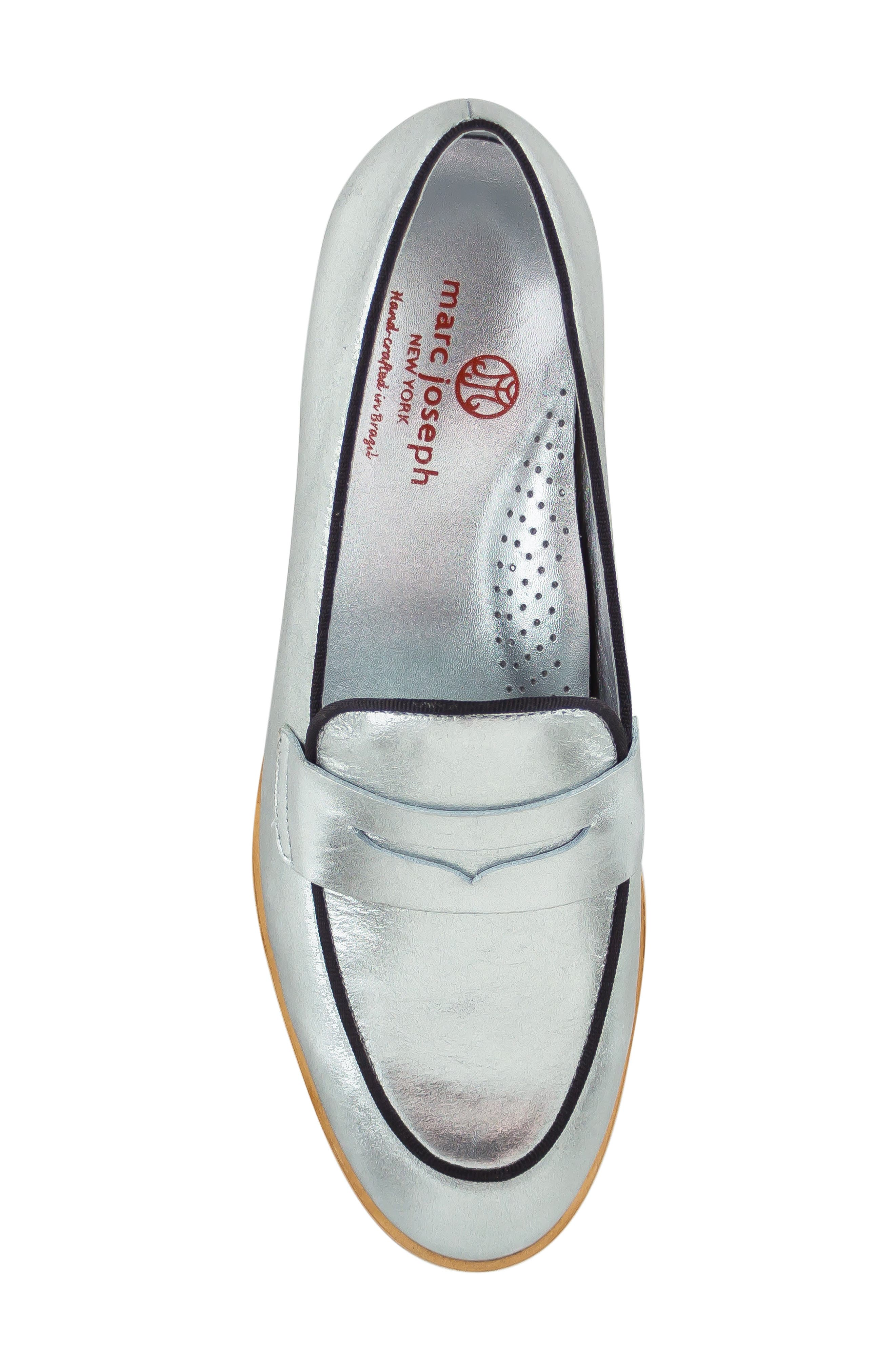 Bryant Park Loafer,                             Alternate thumbnail 5, color,                             GIPSY SILVER LEATHER