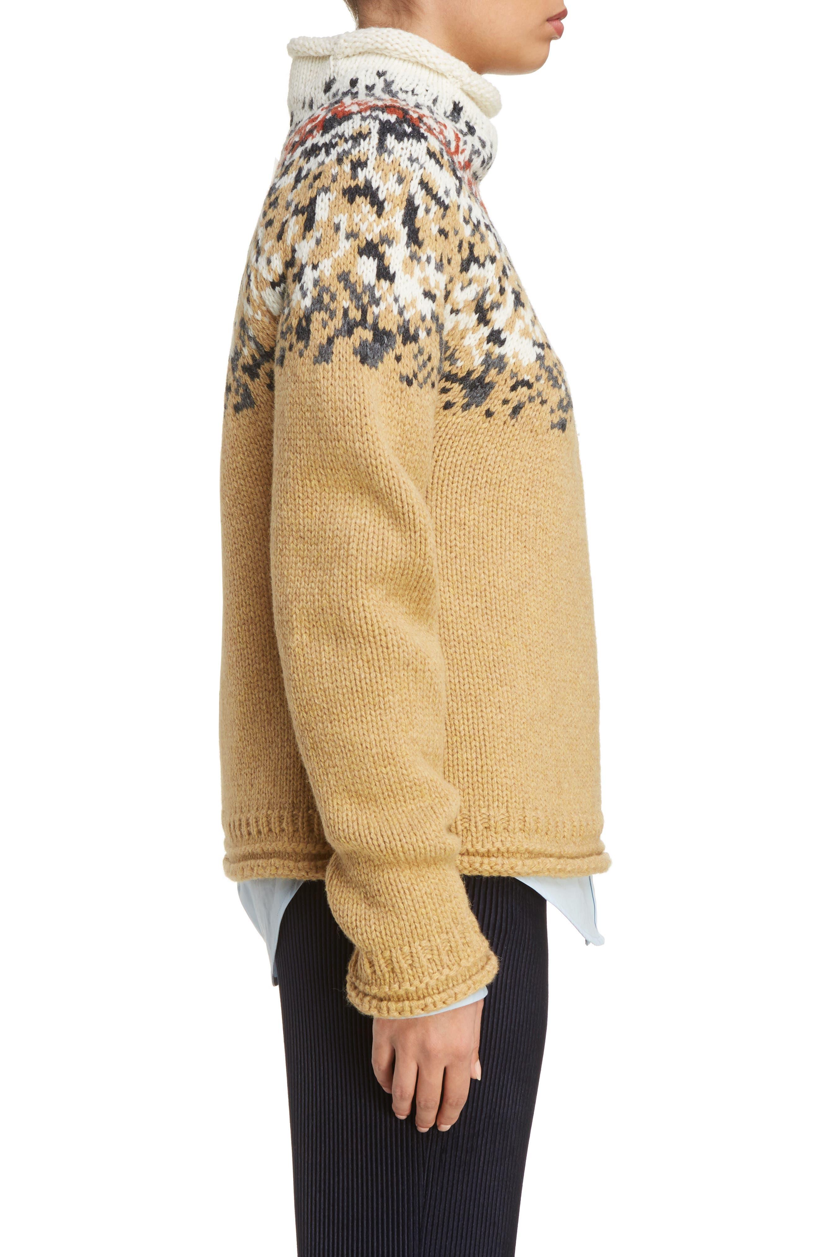 Sirius Heavy Icelandic High Neck Sweater,                             Alternate thumbnail 3, color,                             250