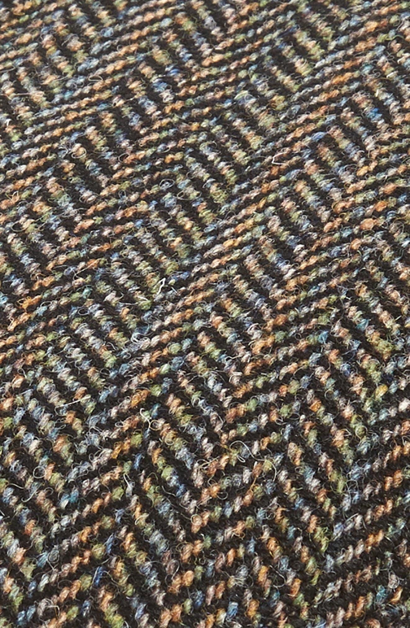 Lord Herringbone Wool Driving Cap,                             Alternate thumbnail 2, color,                             BLACK MULTI