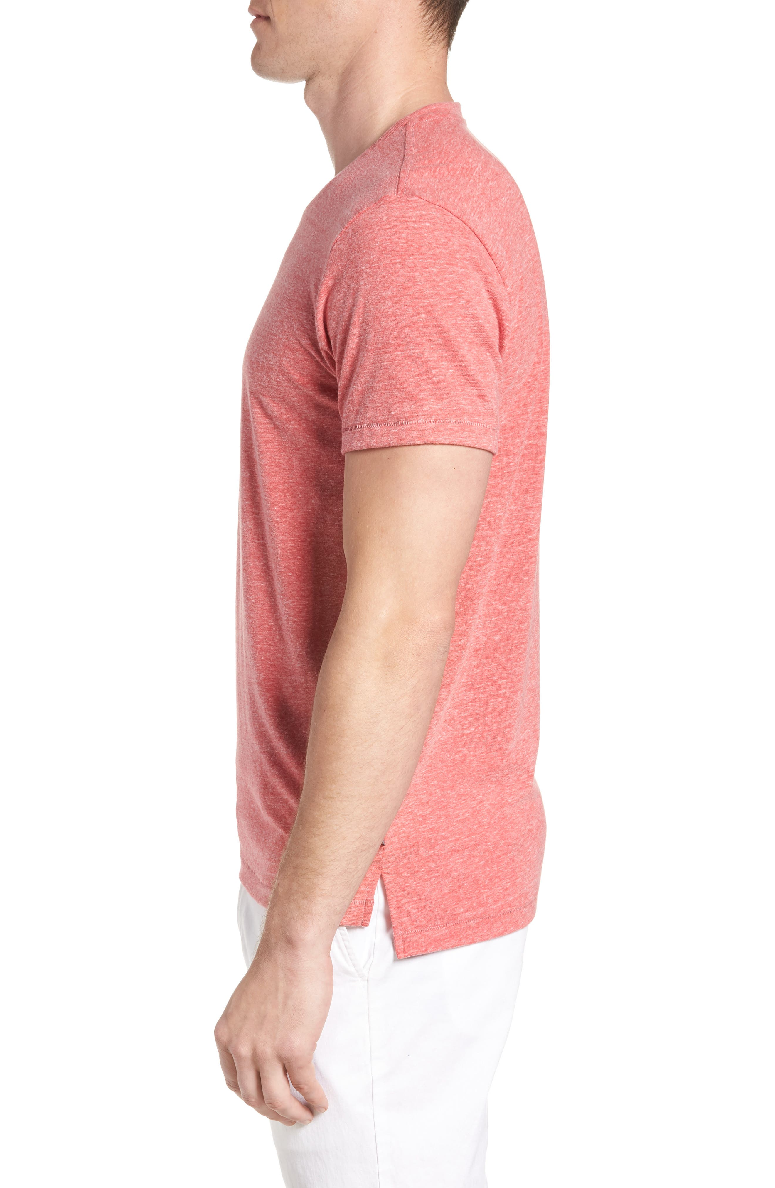 LA Slim Fit Heathered T-Shirt,                             Alternate thumbnail 9, color,