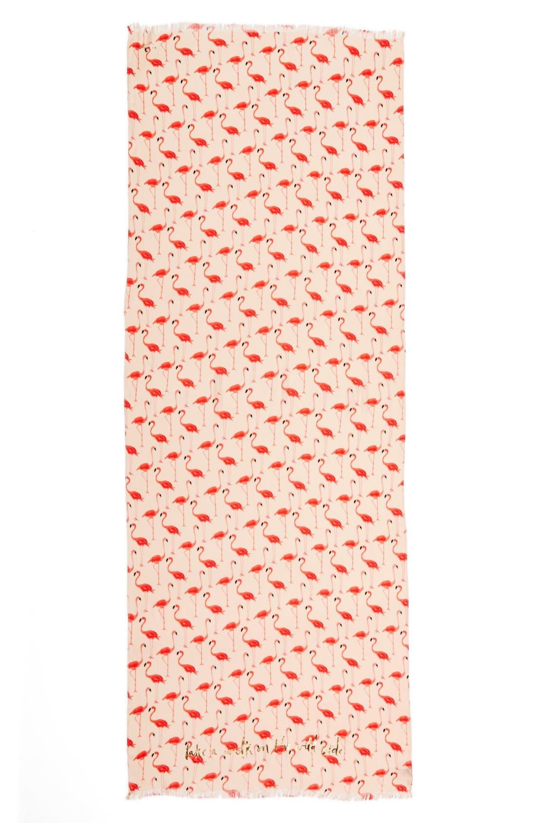 'flamingo' scarf,                             Alternate thumbnail 3, color,                             680