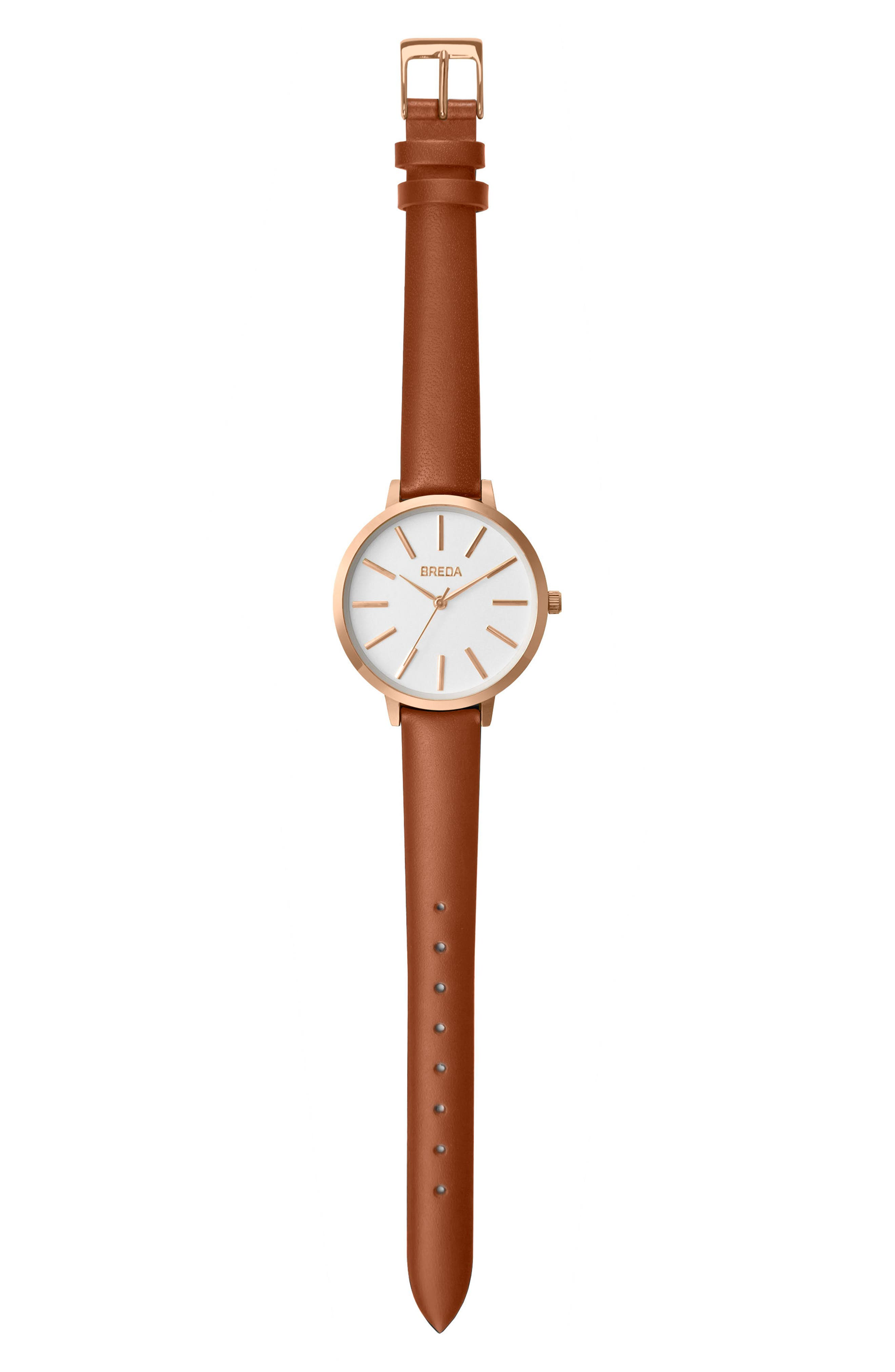 Joule Round Leather Strap Watch, 37mm,                             Main thumbnail 2, color,