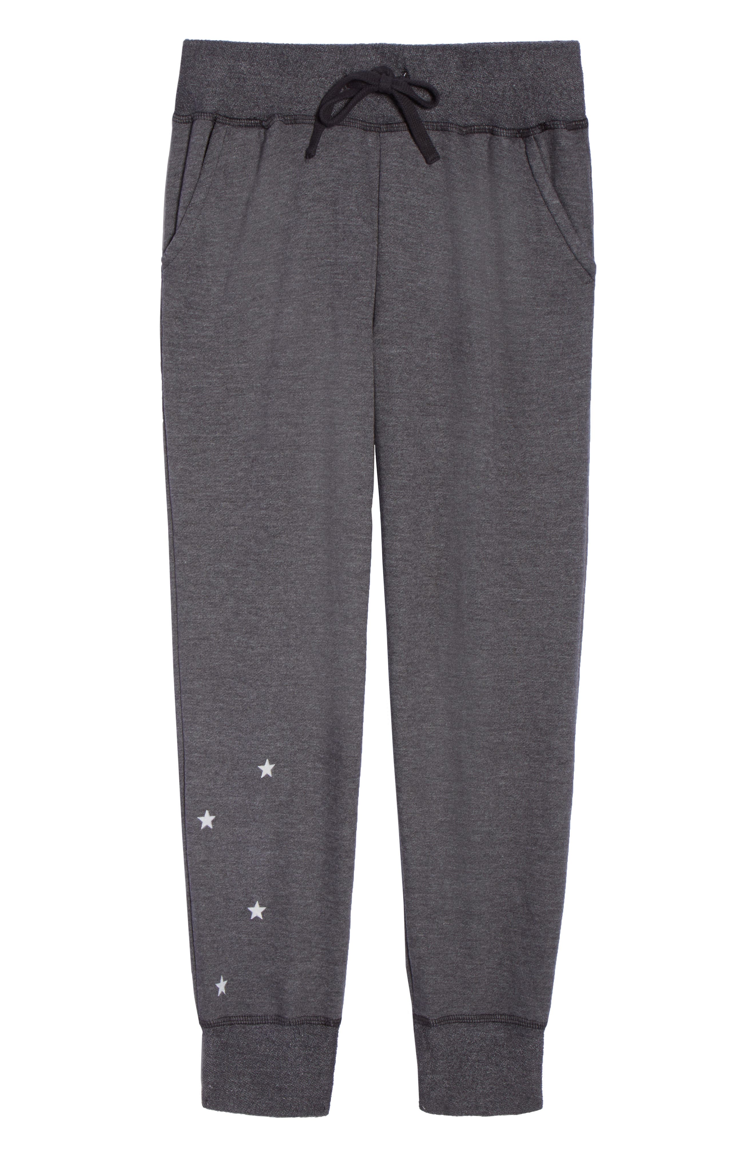 Stars Crop Lounge Pants,                             Alternate thumbnail 6, color,                             001