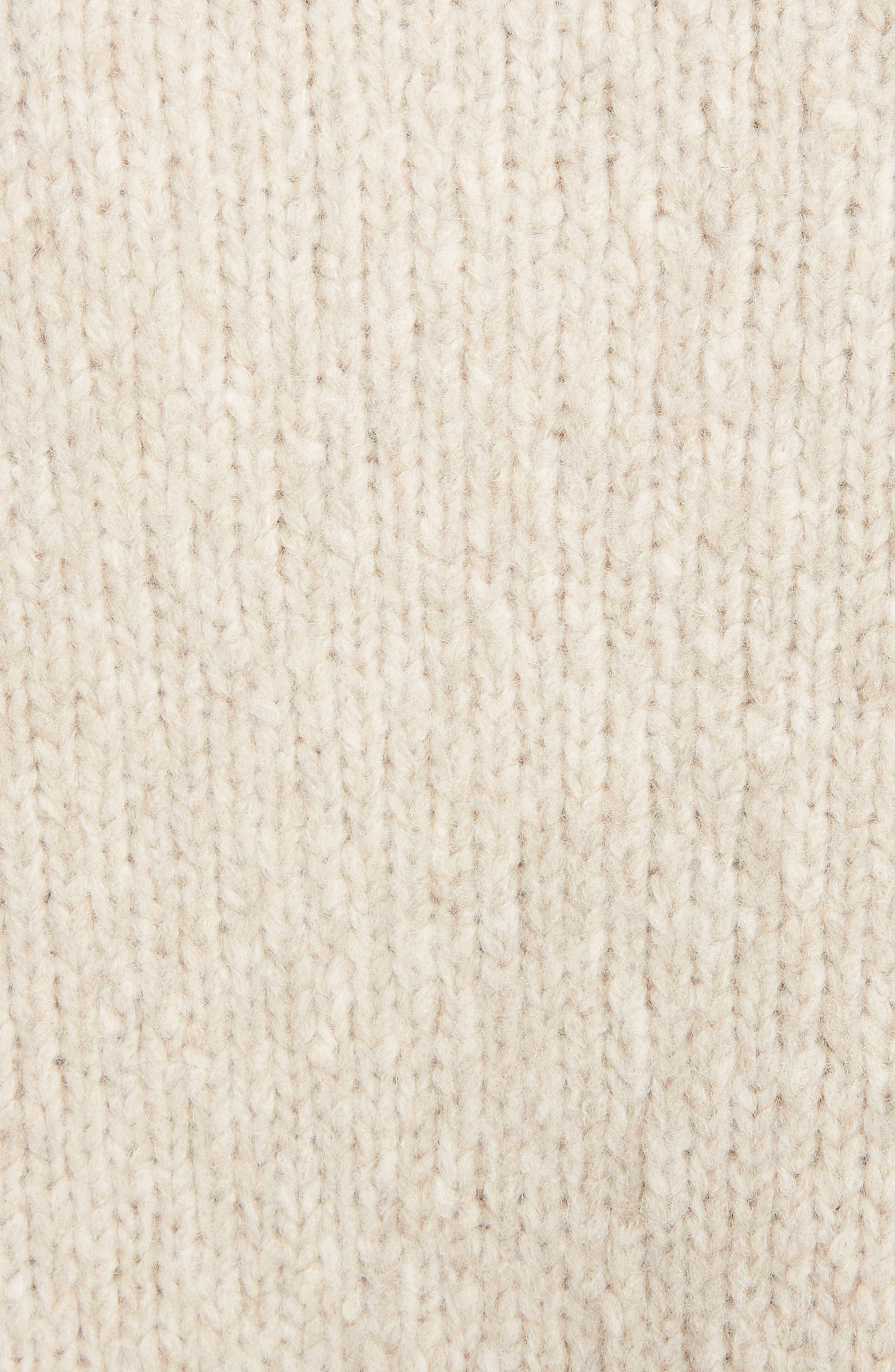Raffia Fringe Sweater,                             Alternate thumbnail 5, color,                             ECRU