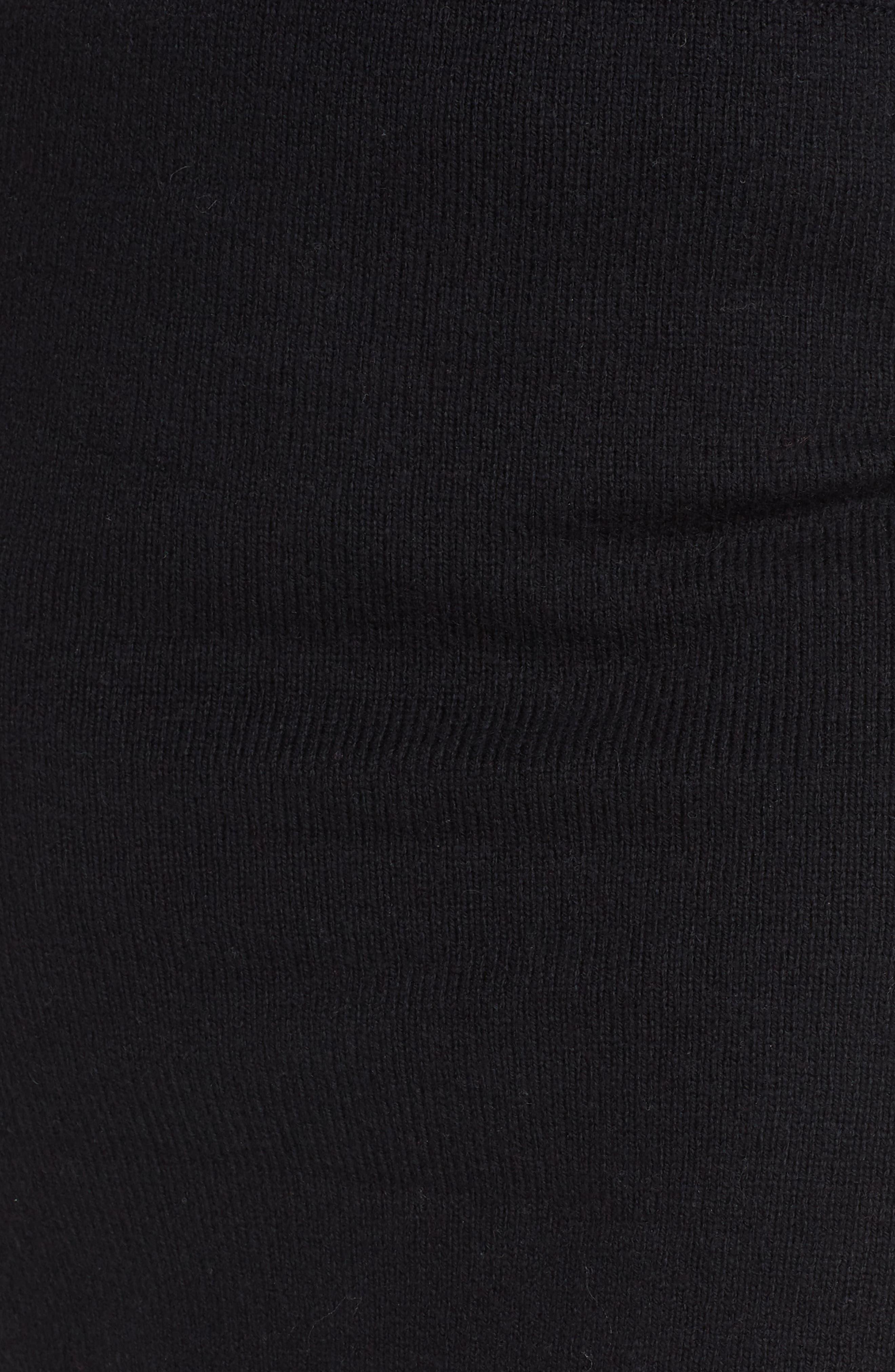 Sweater Miniskirt,                             Alternate thumbnail 5, color,                             BLACK