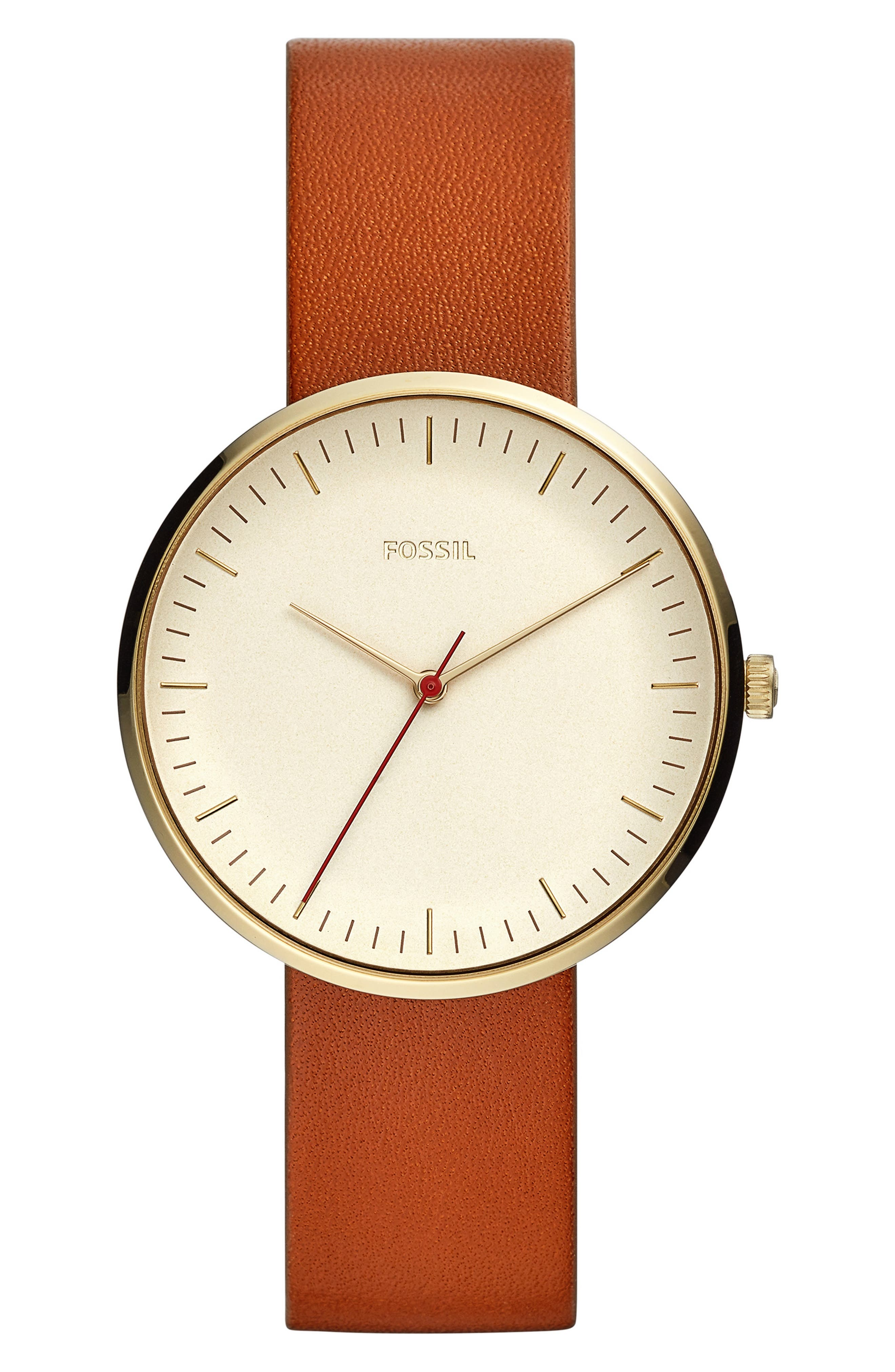 Essentialist Leather Strap Watch, 38mm,                         Main,                         color, 200