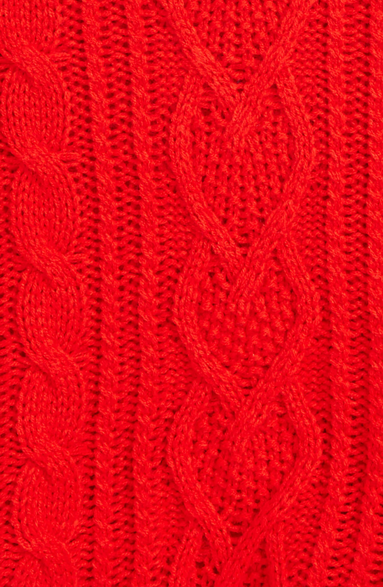 Cable Knit Hooded Sweater,                             Alternate thumbnail 2, color,                             614