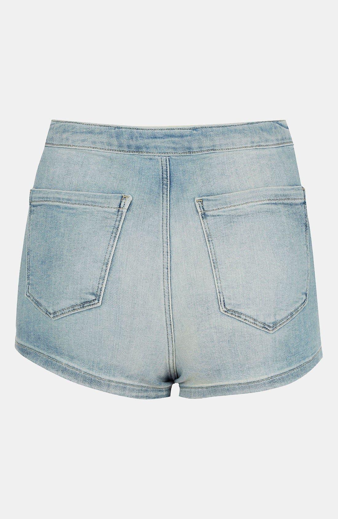 Moto 'Francis' Denim Hot Pants,                             Alternate thumbnail 2, color,                             450