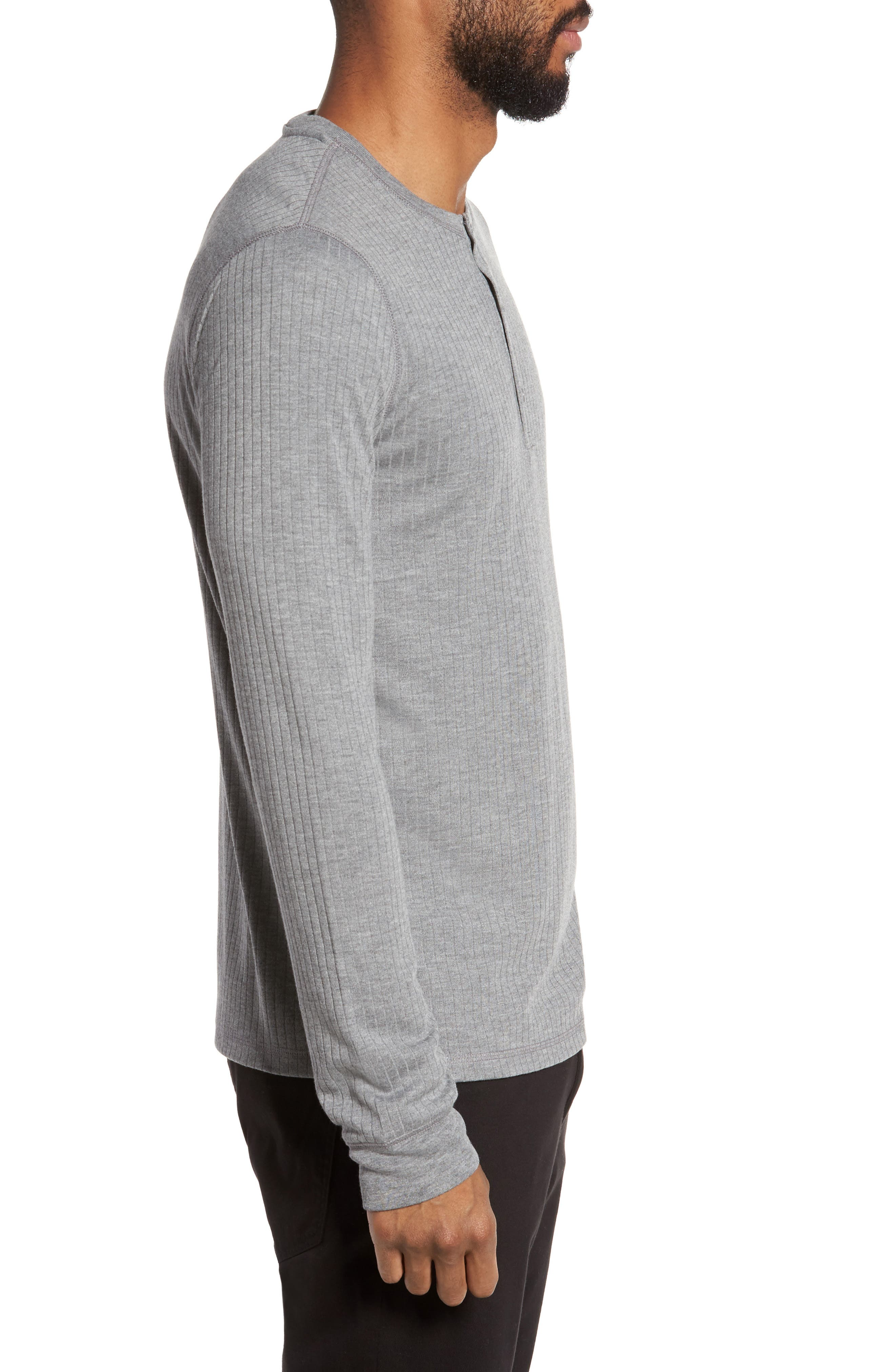 Ribbed Henley,                             Alternate thumbnail 3, color,                             095
