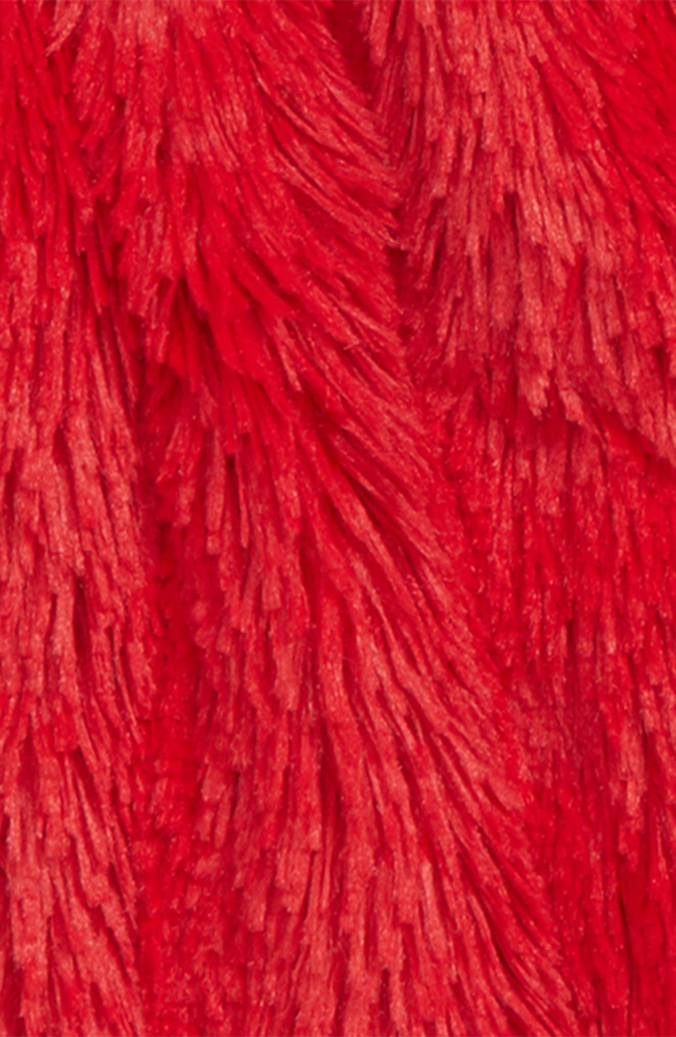Faux Fur Jacket,                             Alternate thumbnail 2, color,                             RED