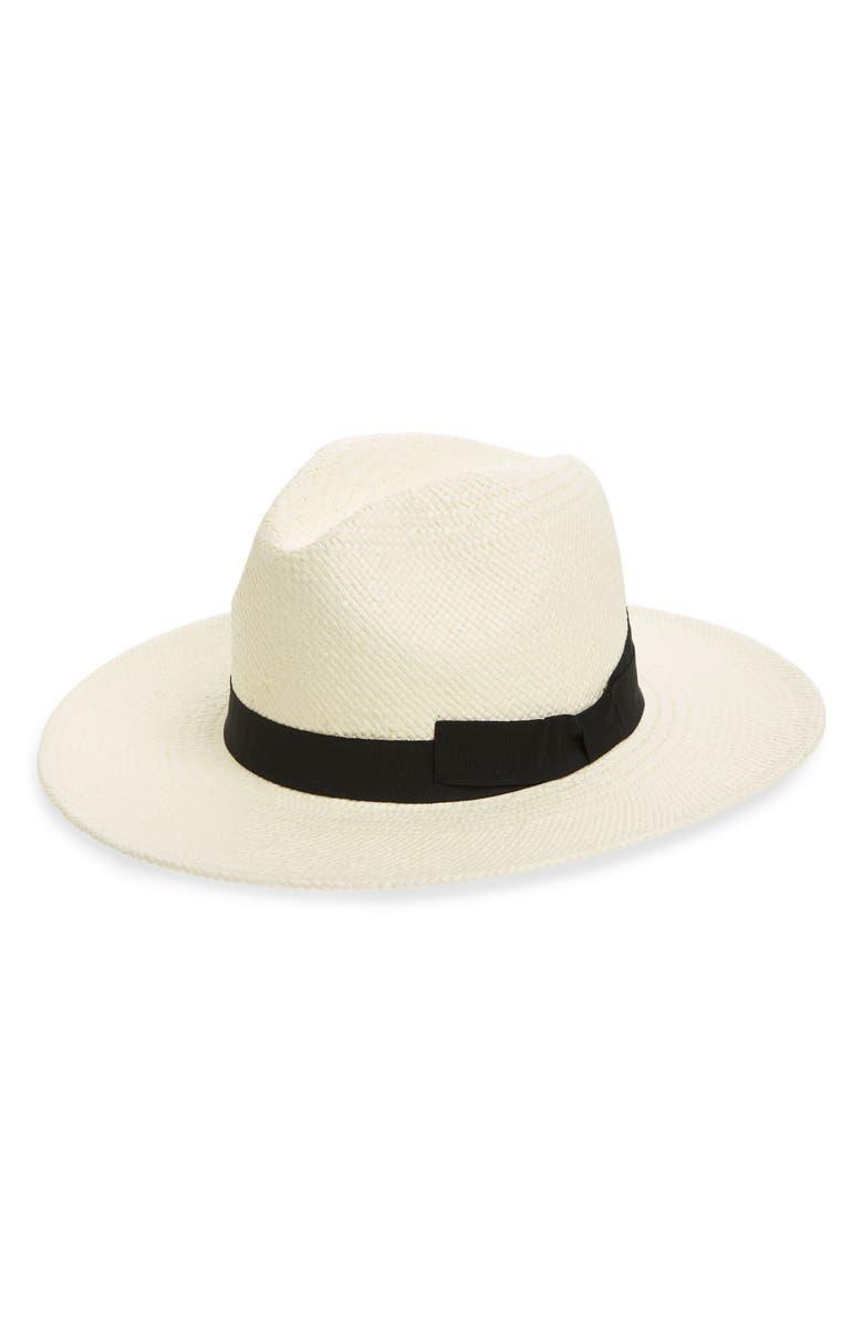 HALOGEN<SUP>®</SUP> Woven Panama Hat, Main, color, NATURAL