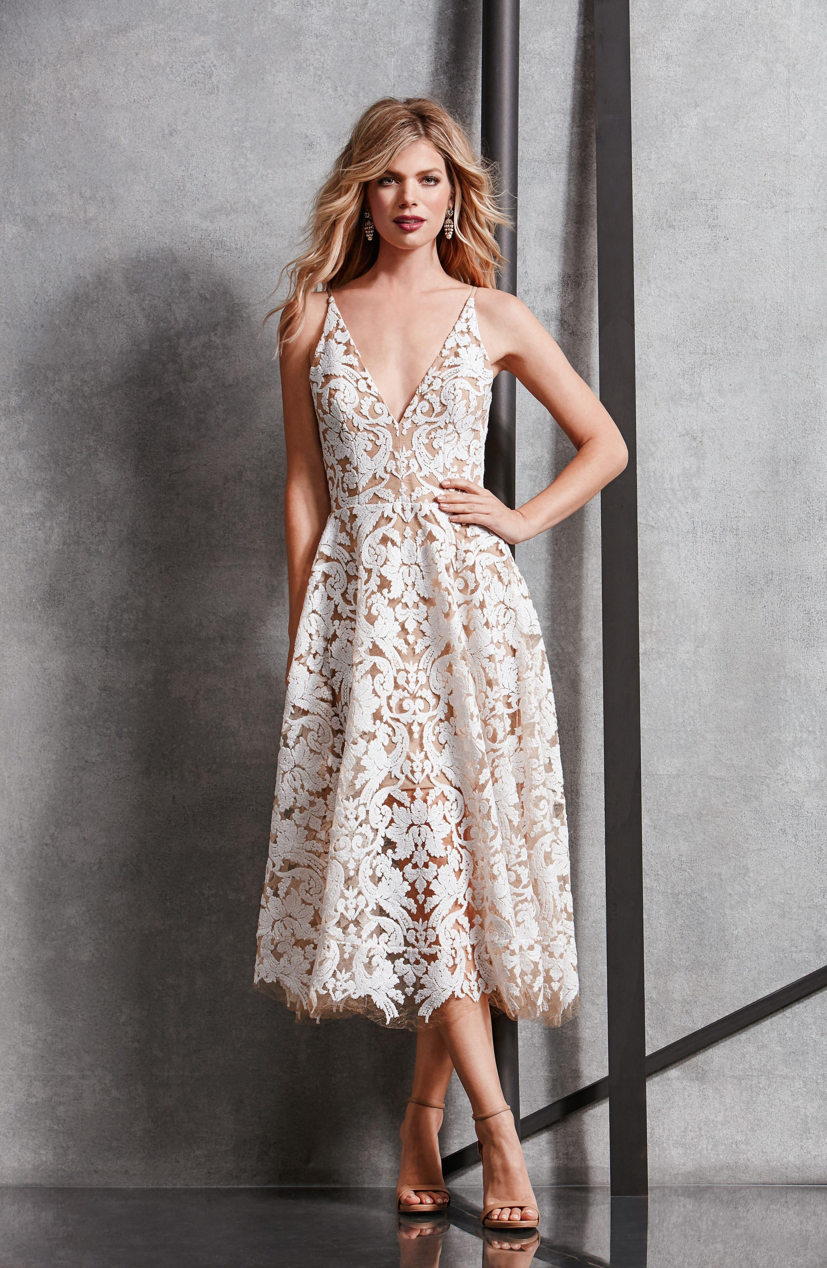Blair Embellished Fit & Flare Dress,                             Alternate thumbnail 31, color,