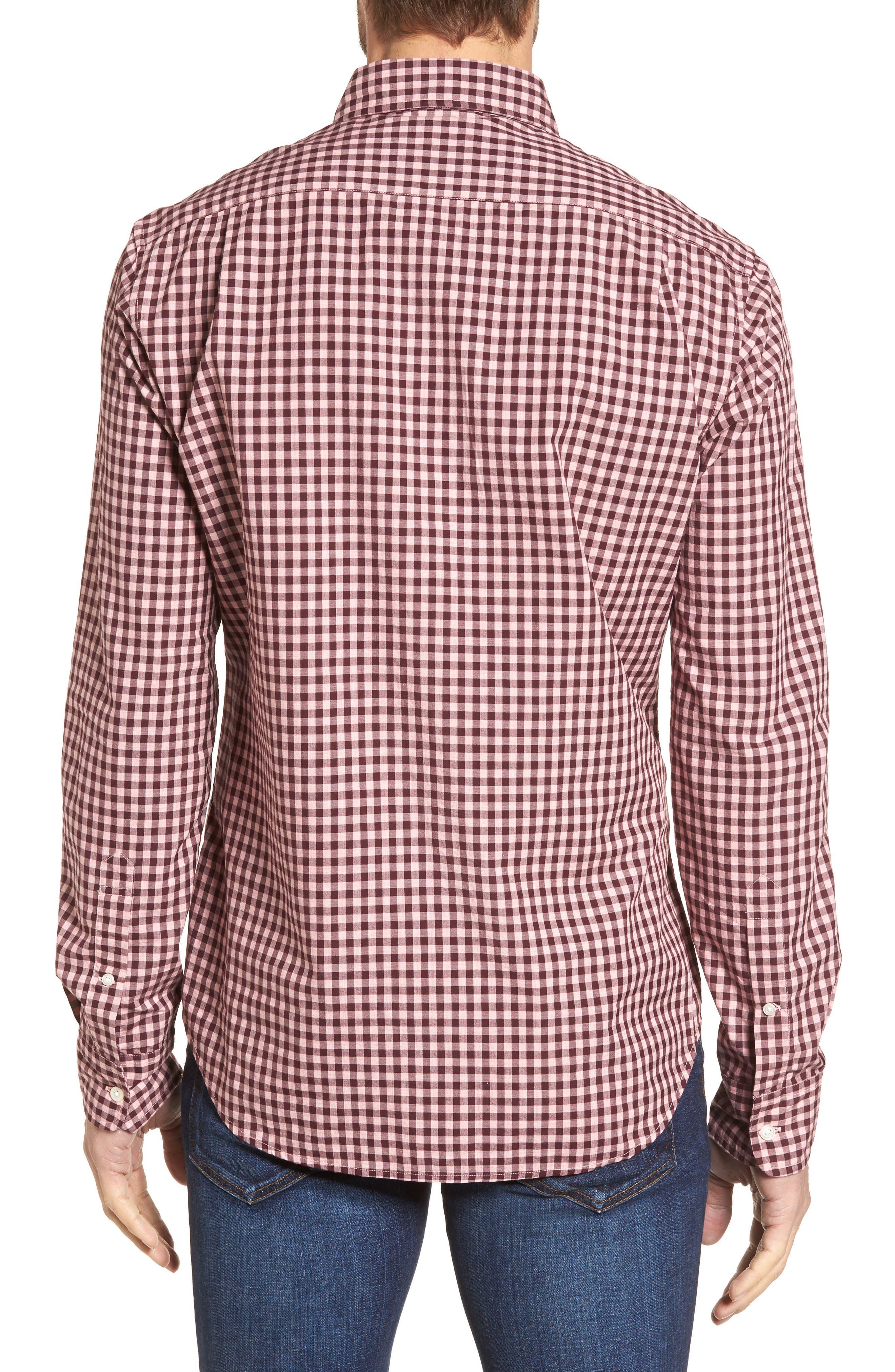 Slim Fit Washed Ombré Check Sport Shirt,                             Alternate thumbnail 2, color,                             650