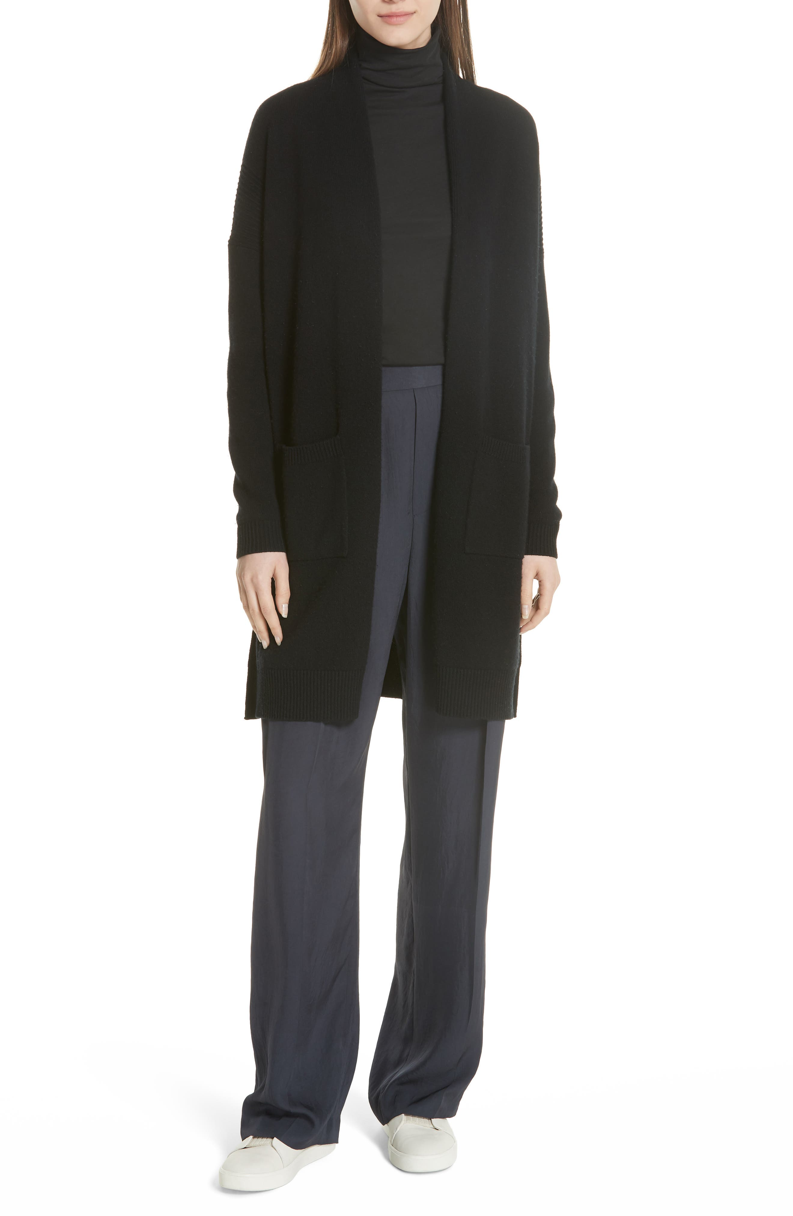 Favorite Stretch Pima Cotton Turtleneck,                         Main,                         color, BLACK