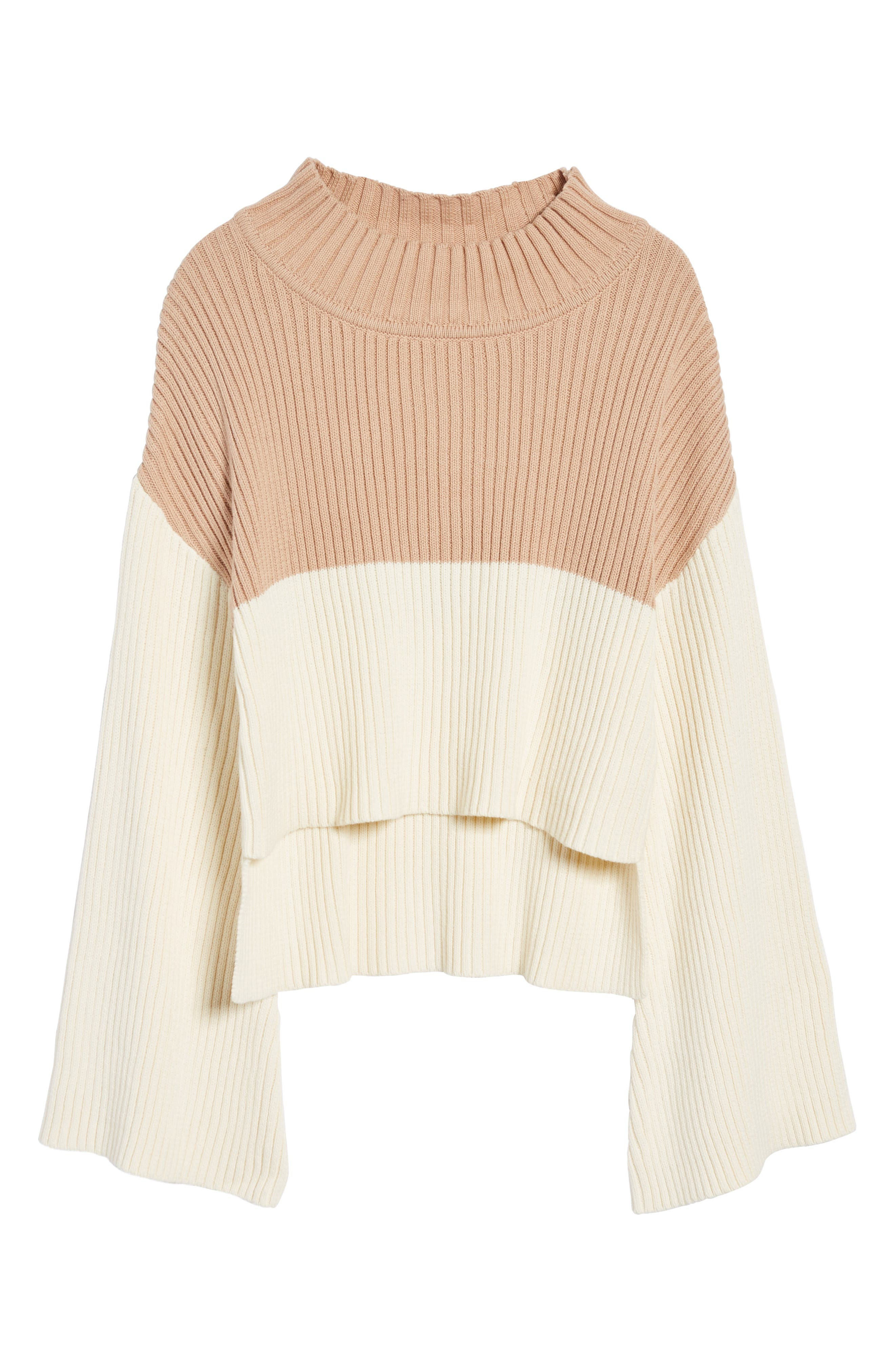 Like a Melody Colorblock Crop Sweater,                             Alternate thumbnail 6, color,                             900