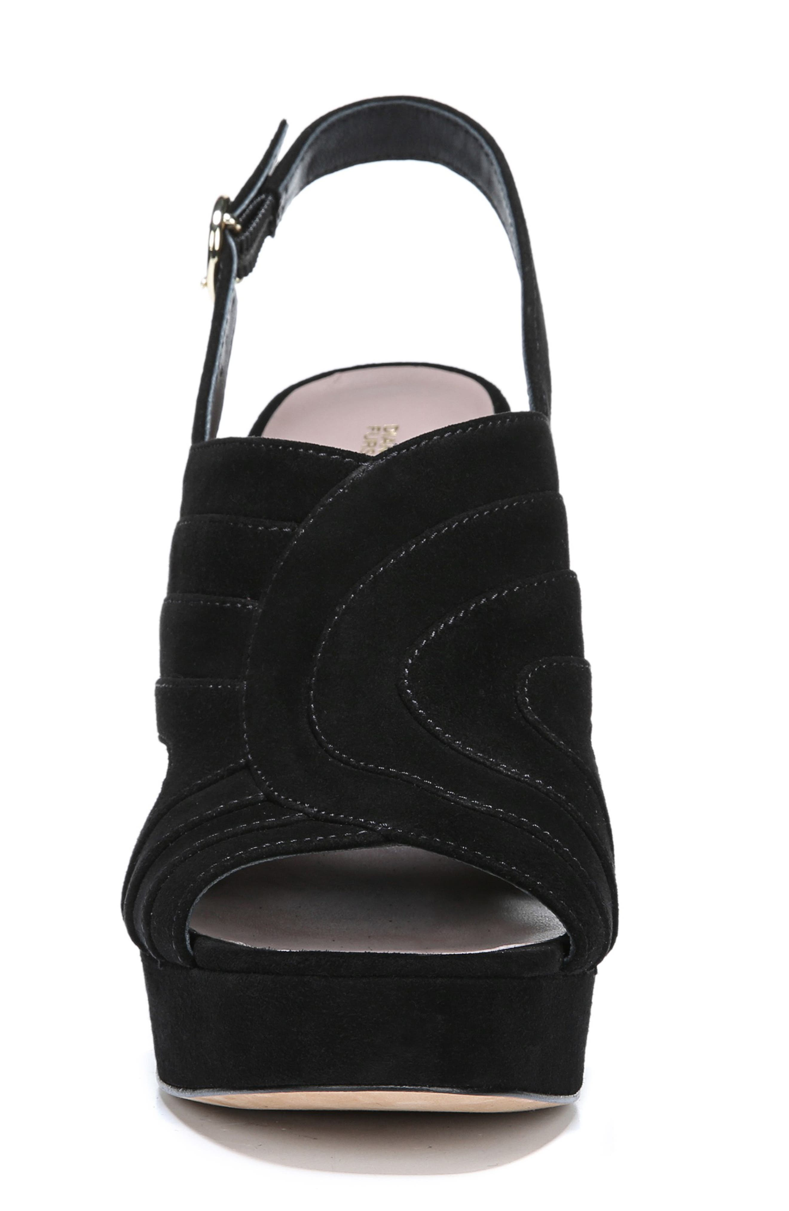 Tabby Platform Sandal,                             Alternate thumbnail 4, color,                             BLACK