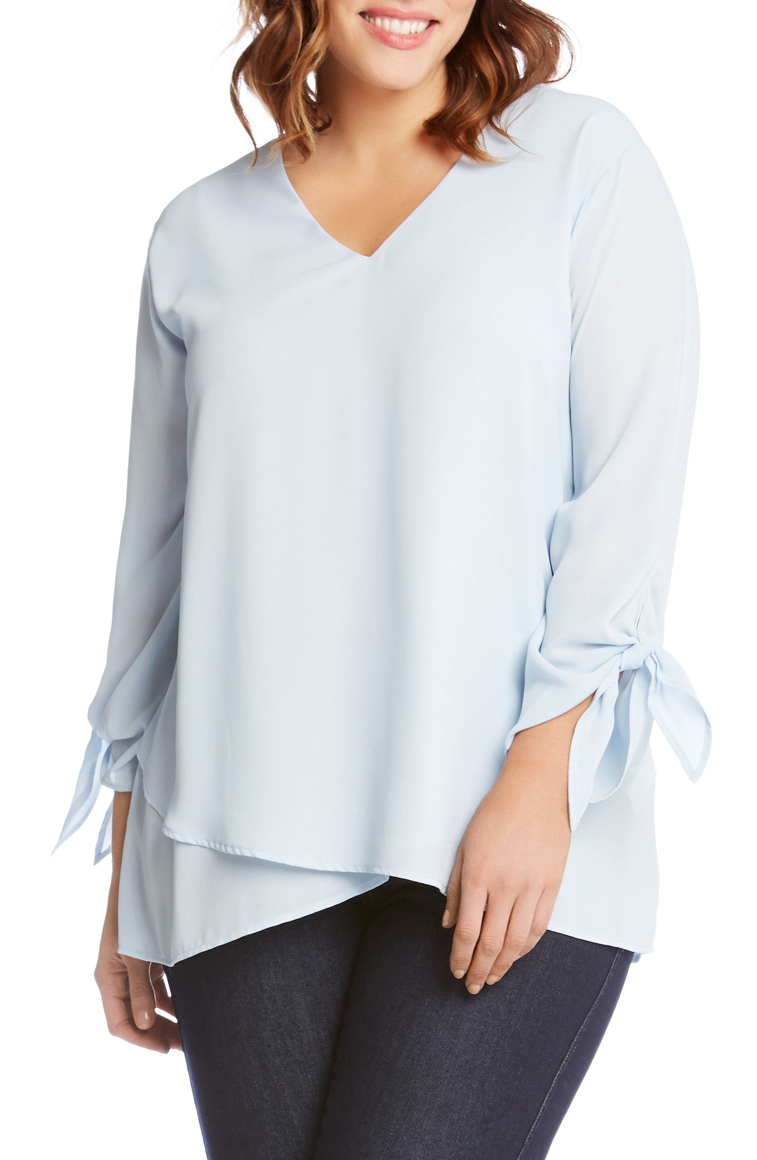 Crossover Tie Sleeve Top,                             Main thumbnail 2, color,