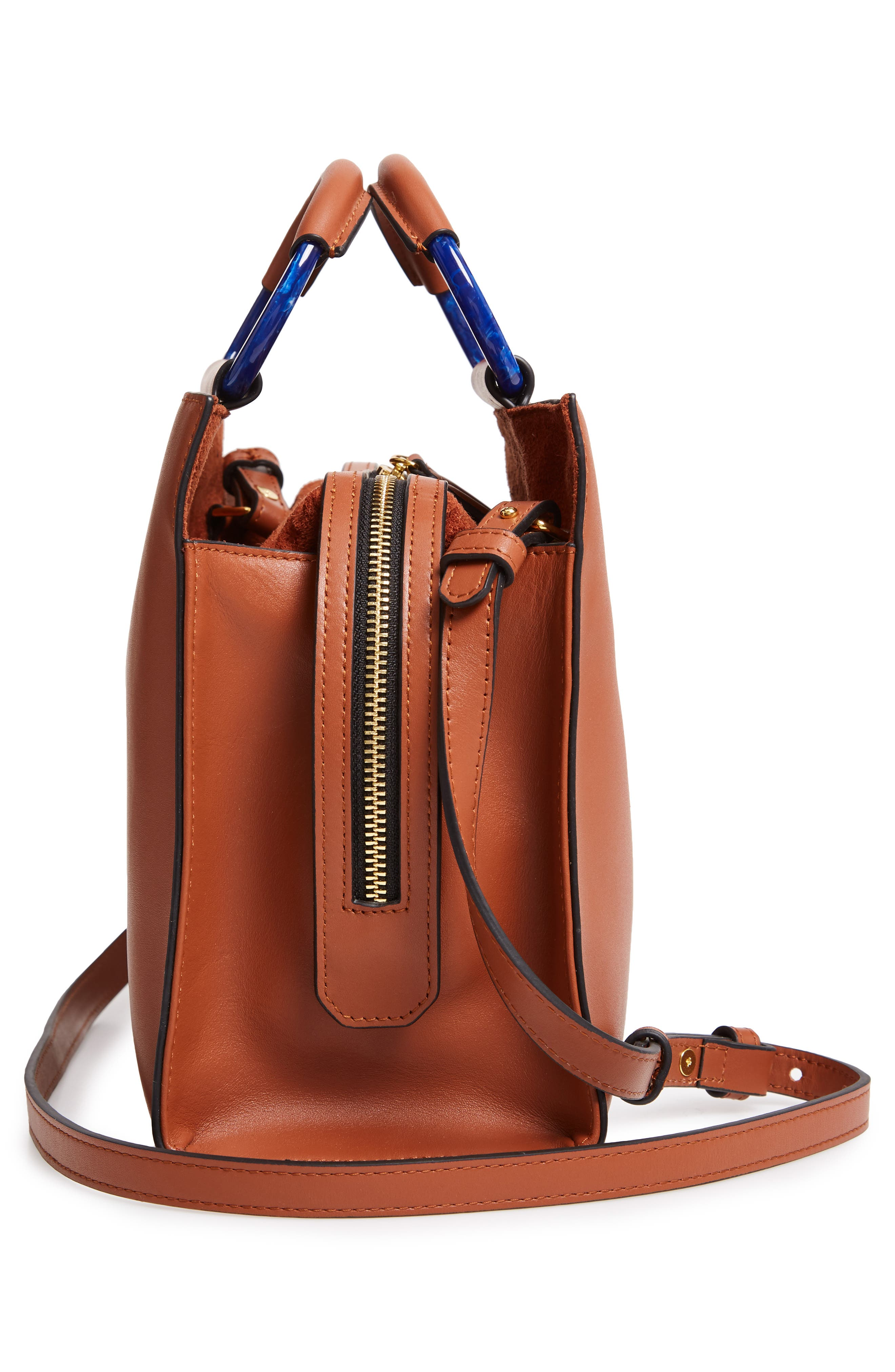 Harriet Leather Box Tote,                             Alternate thumbnail 5, color,