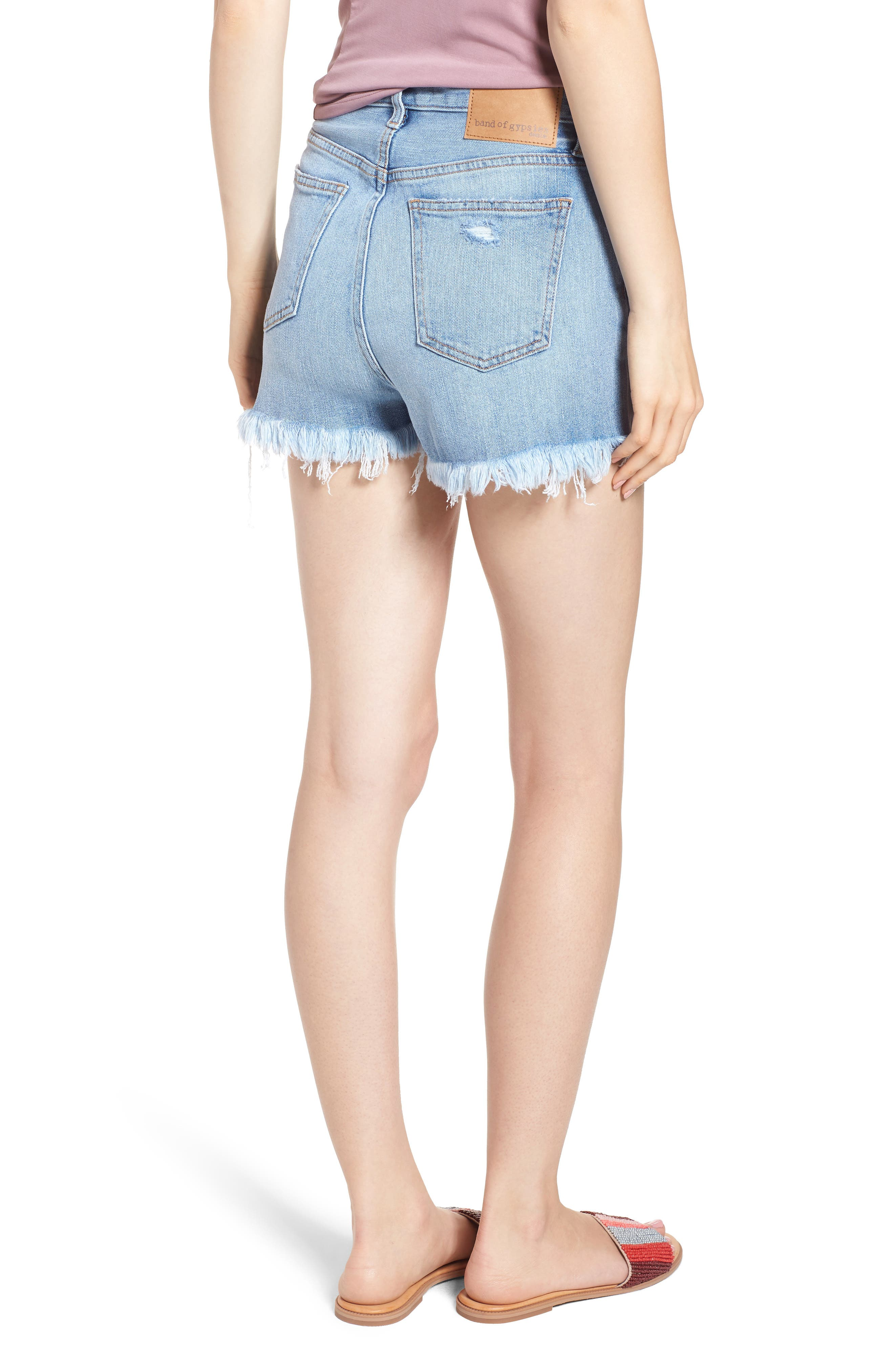 Zoey Denim Shorts,                             Alternate thumbnail 2, color,