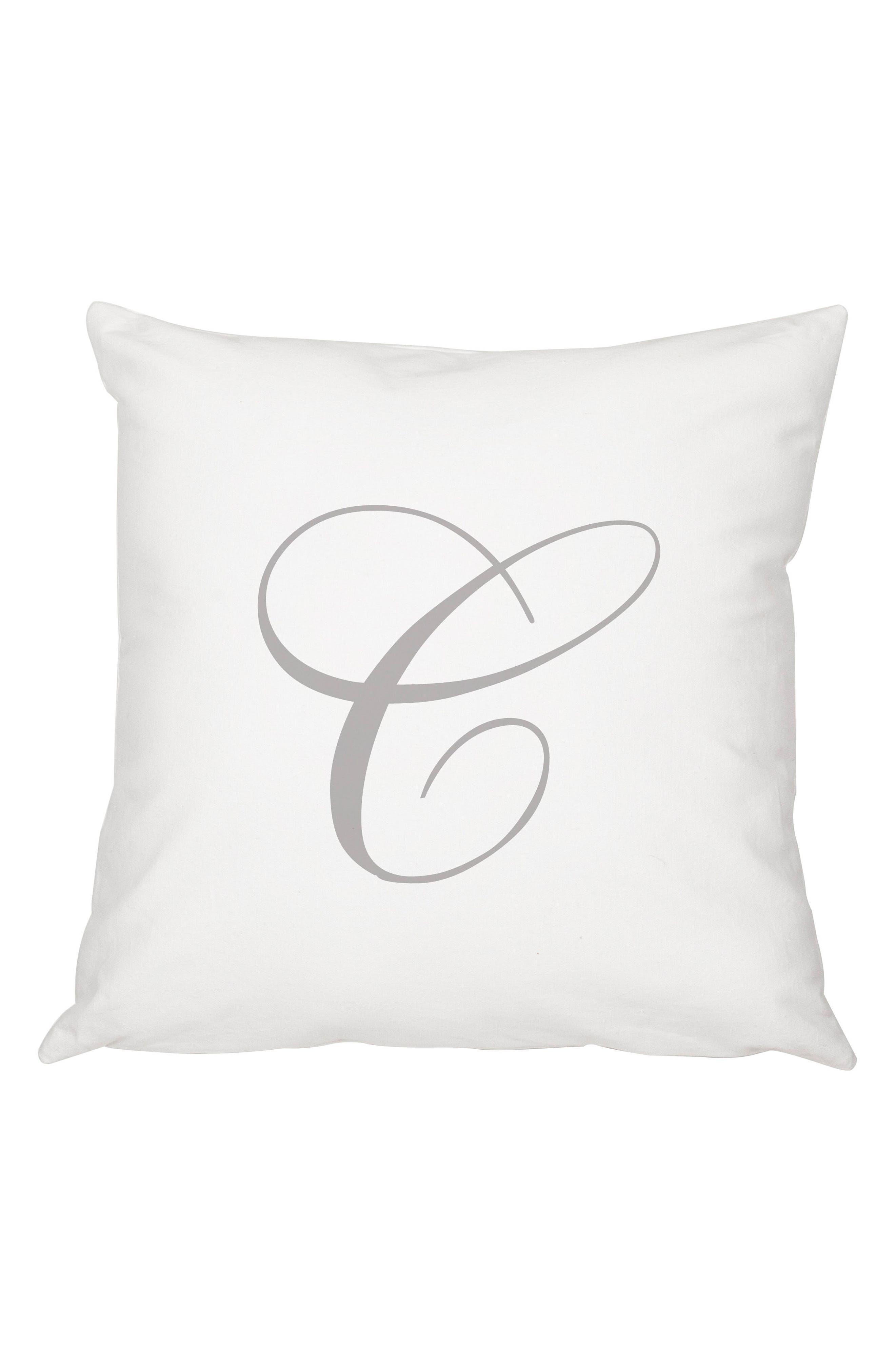 Script Monogram Accent Pillow,                             Main thumbnail 3, color,