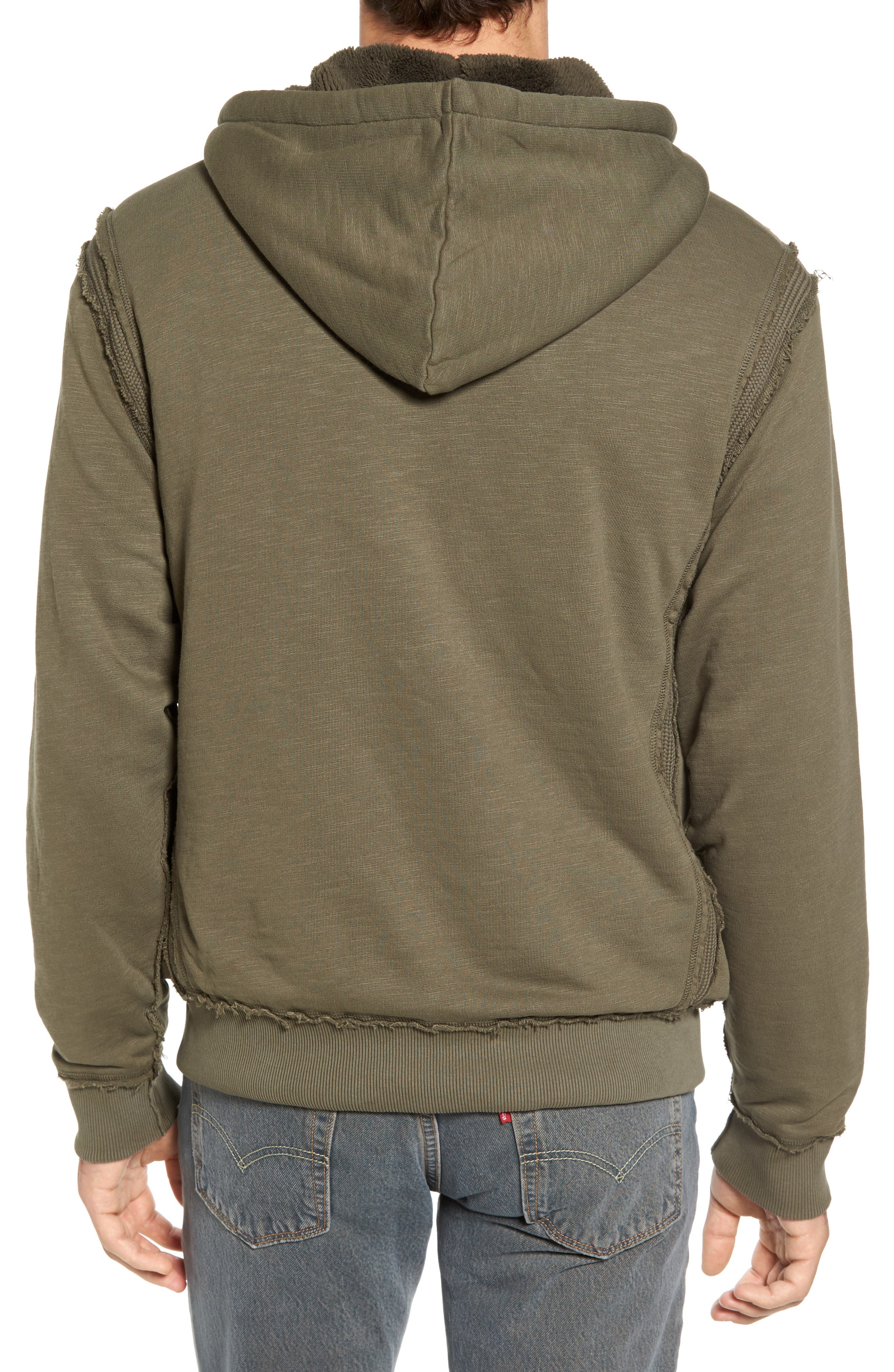 Frosty Pile Zip Front Hoodie,                             Alternate thumbnail 2, color,                             345