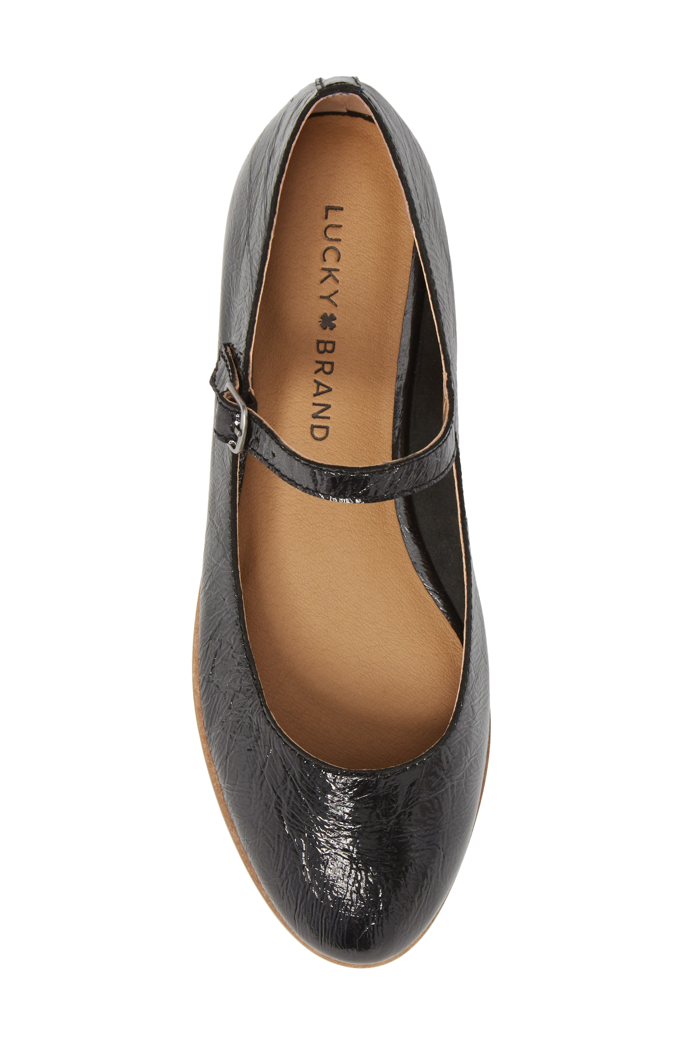 Ceentana Mary Jane Flat,                             Alternate thumbnail 5, color,                             BLACK LEATHER