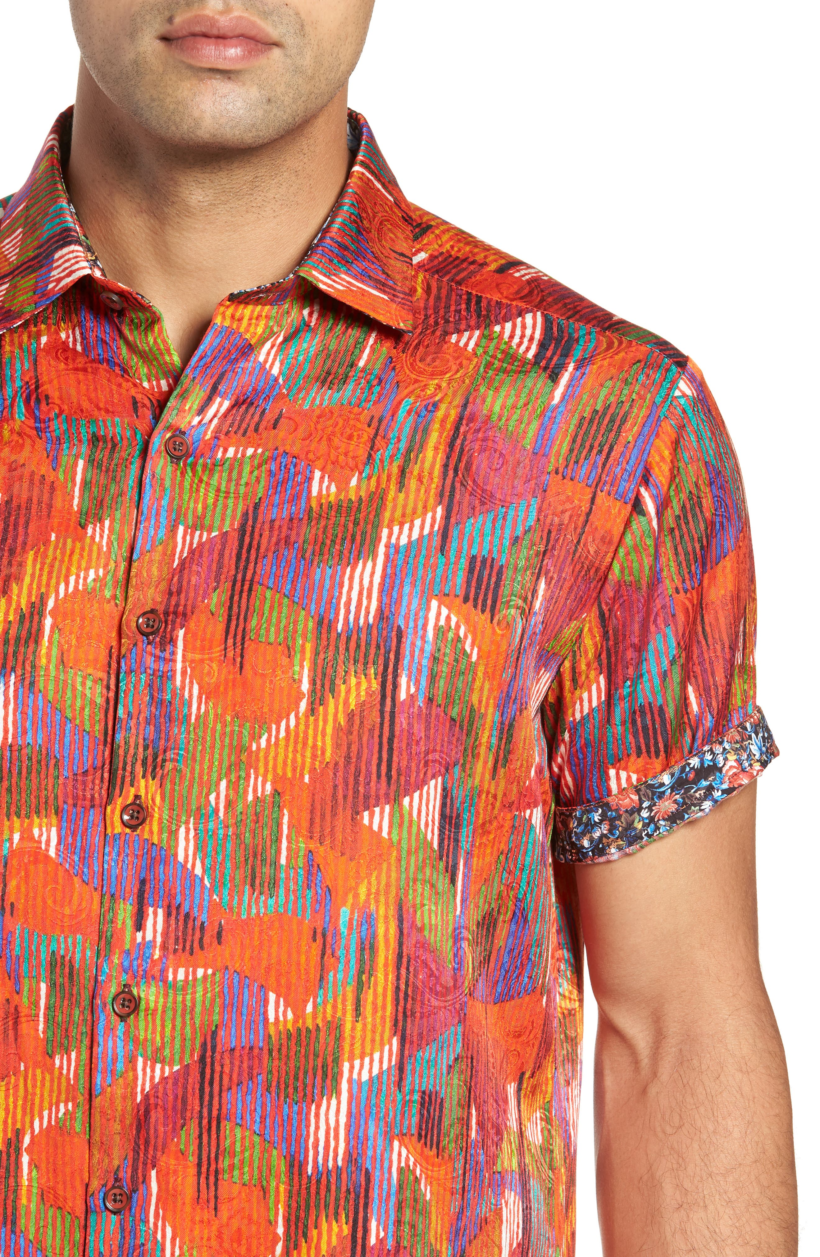 ROBERT GRAHAM,                             Gallagher Classic Fit Silk Blend Sport Shirt,                             Alternate thumbnail 2, color,                             600