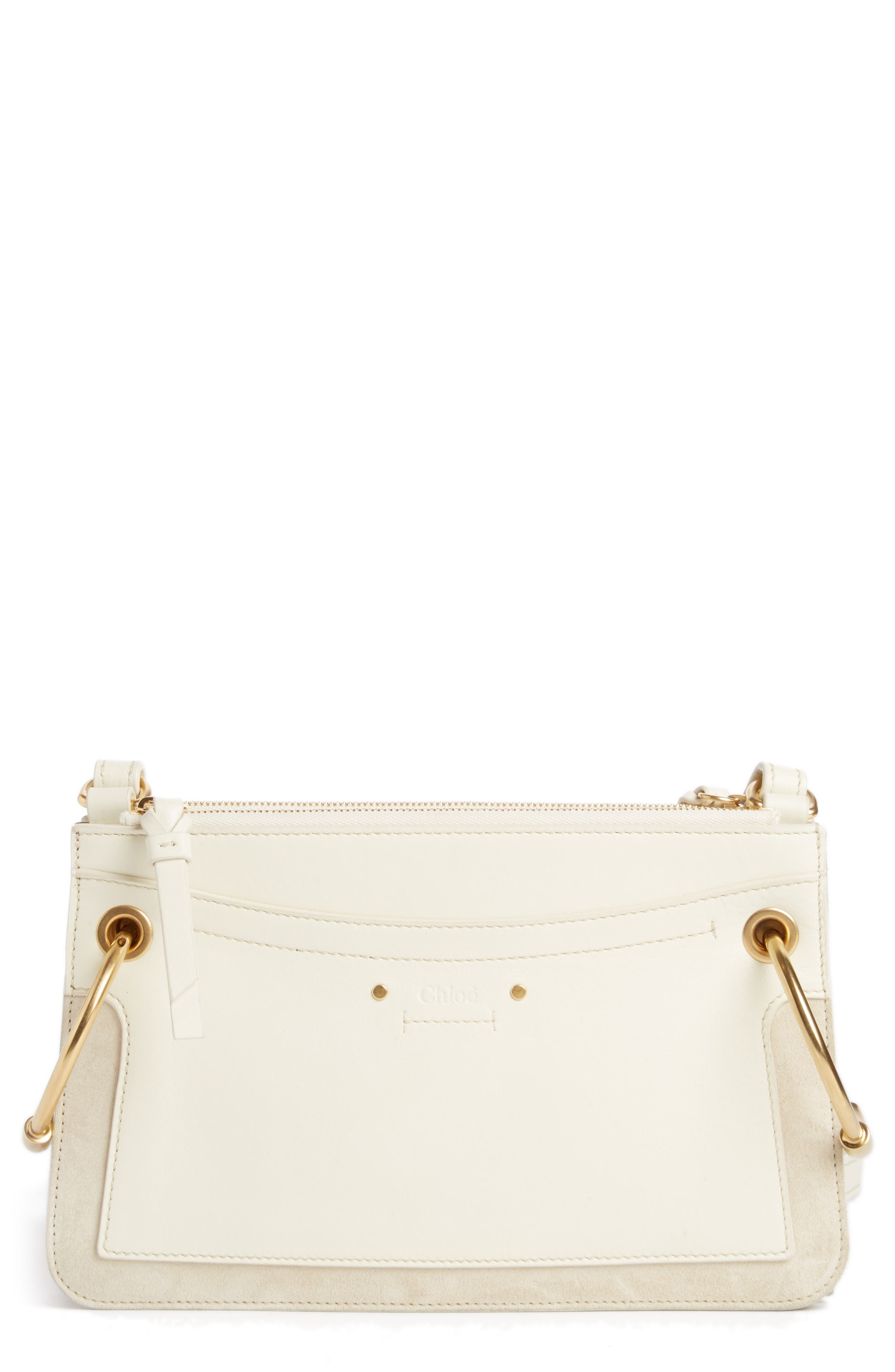 Small Roy Leather Crossbody Bag,                             Main thumbnail 1, color,                             NATURAL WHITE