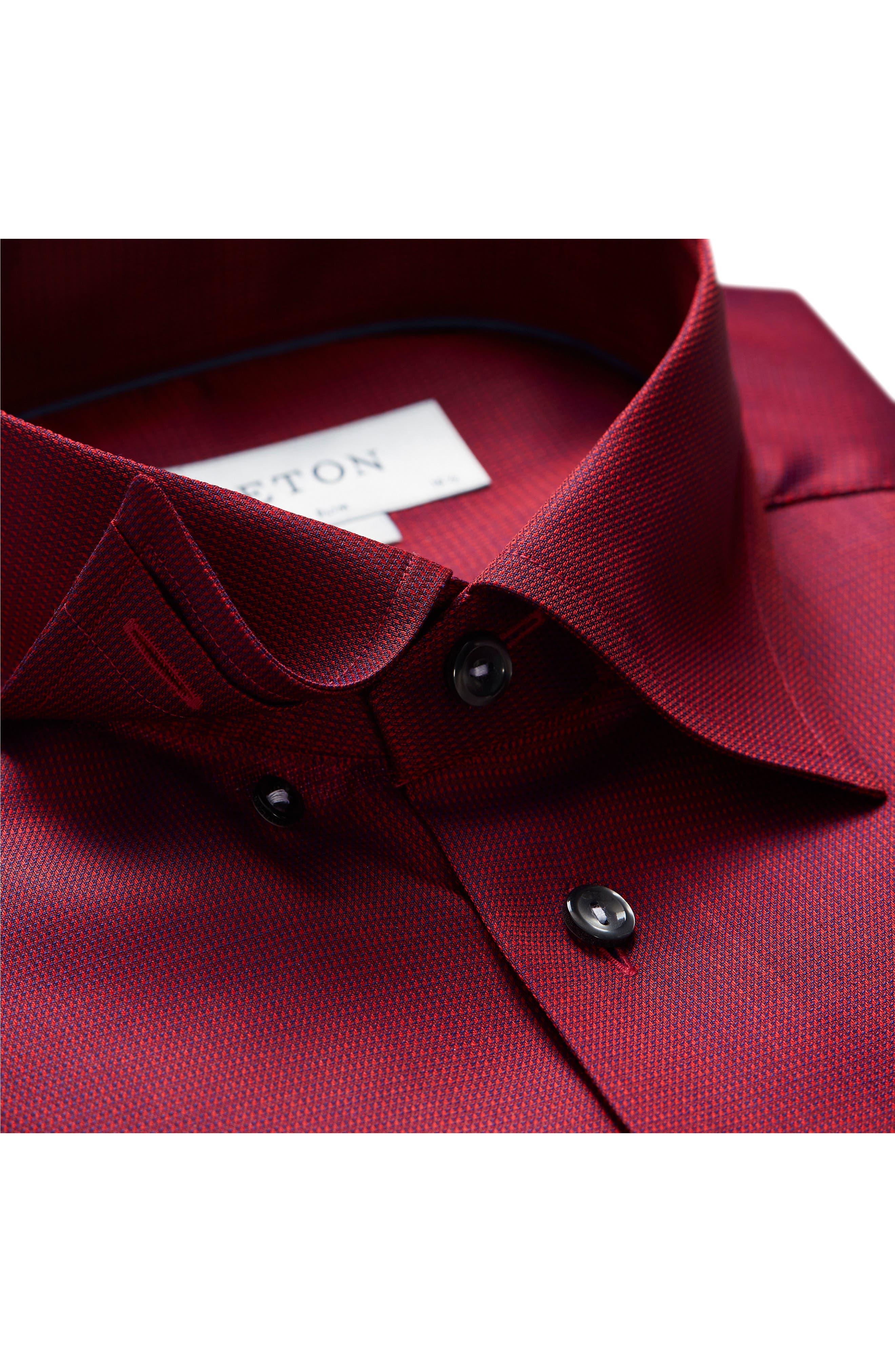Slim Fit Solid Dress Shirt,                             Alternate thumbnail 3, color,                             600