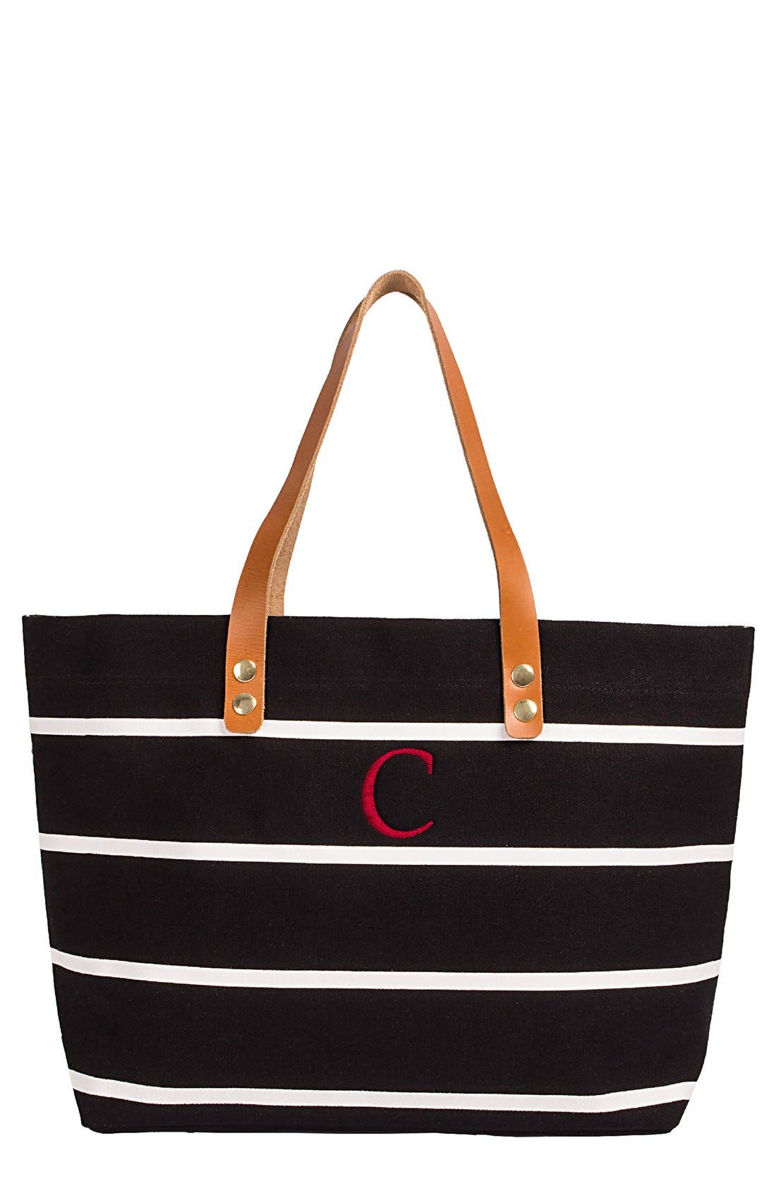 Monogram Stripe Tote,                             Main thumbnail 4, color,