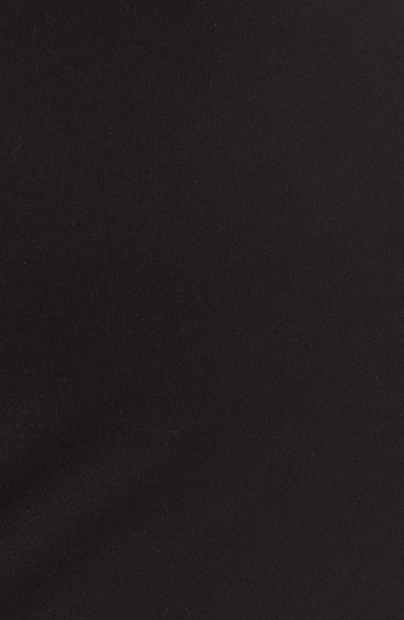 Cold Shoulder Sheath Dress,                             Alternate thumbnail 5, color,                             001