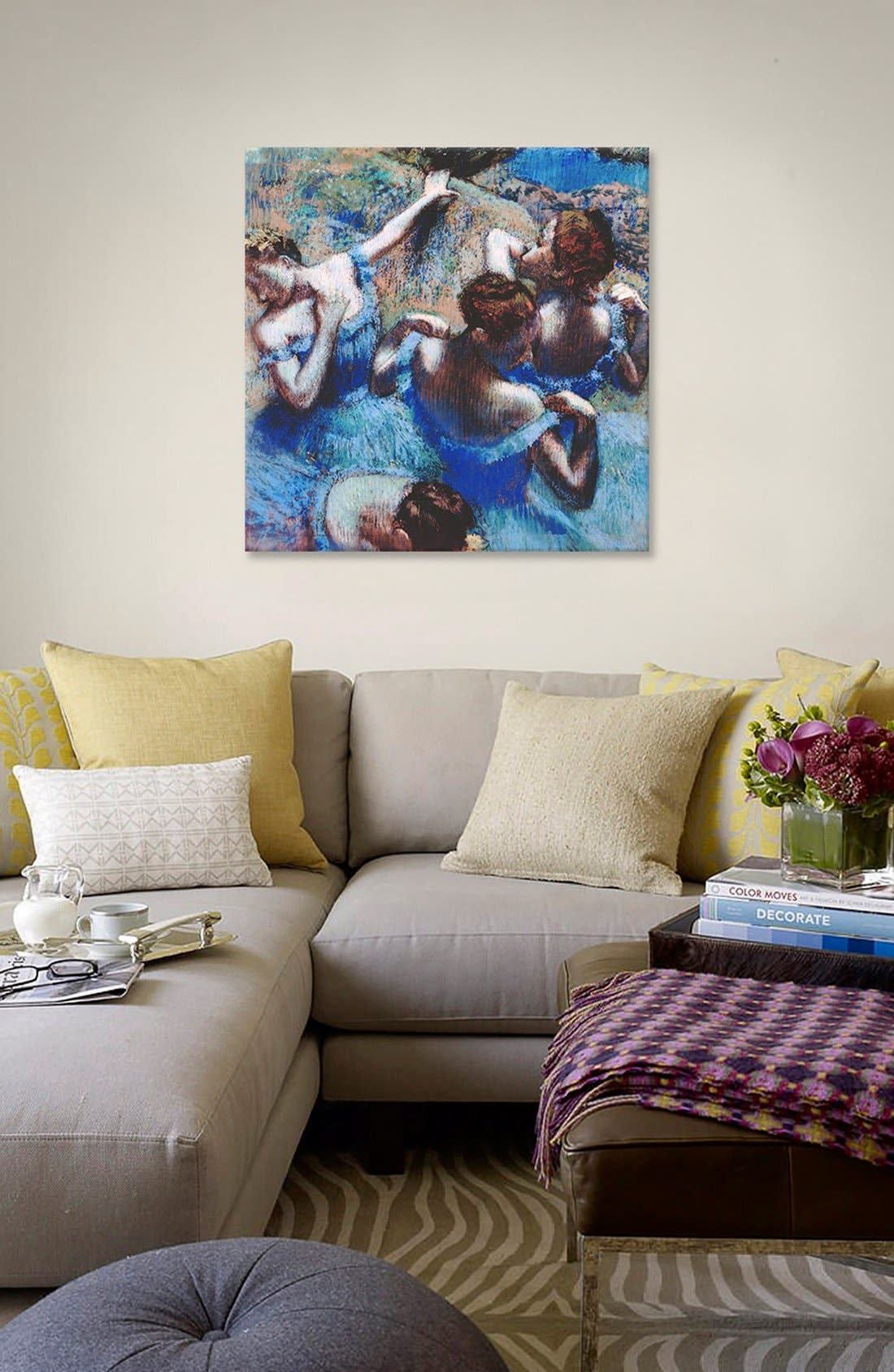 'Blue Dancers 1899 - Edgar Degas' Giclée Print Canvas Art,                             Alternate thumbnail 2, color,                             400