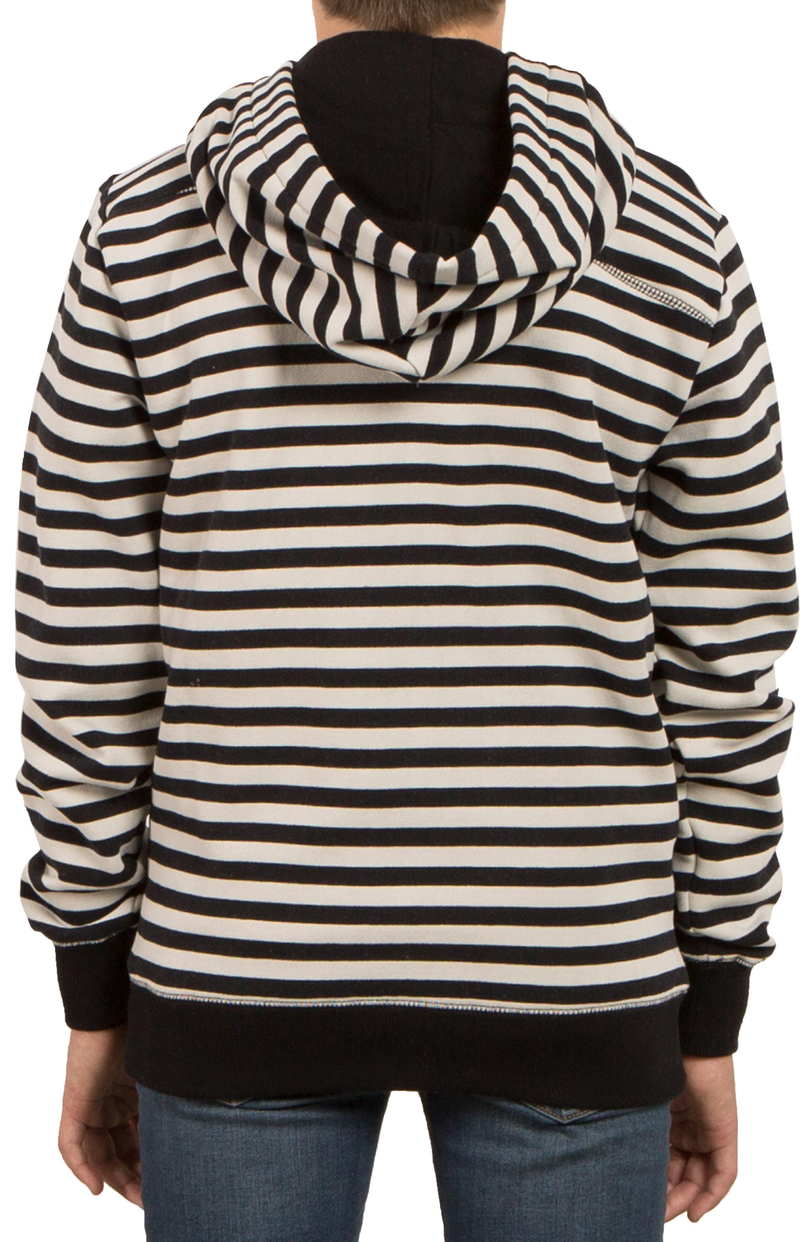 Kraystone Stripe Zip Hoodie,                             Alternate thumbnail 2, color,                             001