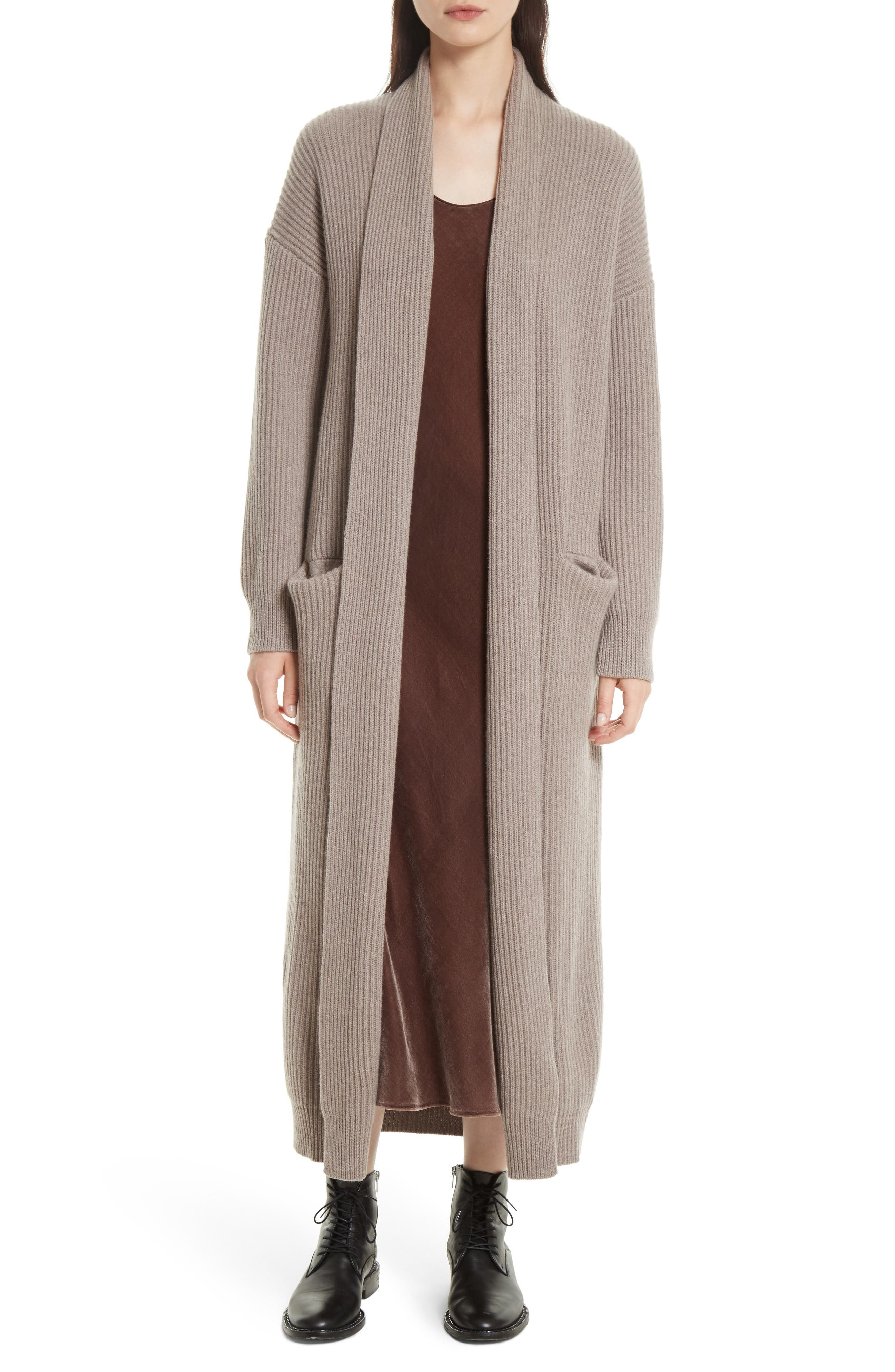 VINCE Long Knit Sweater Robe, Main, color, 260