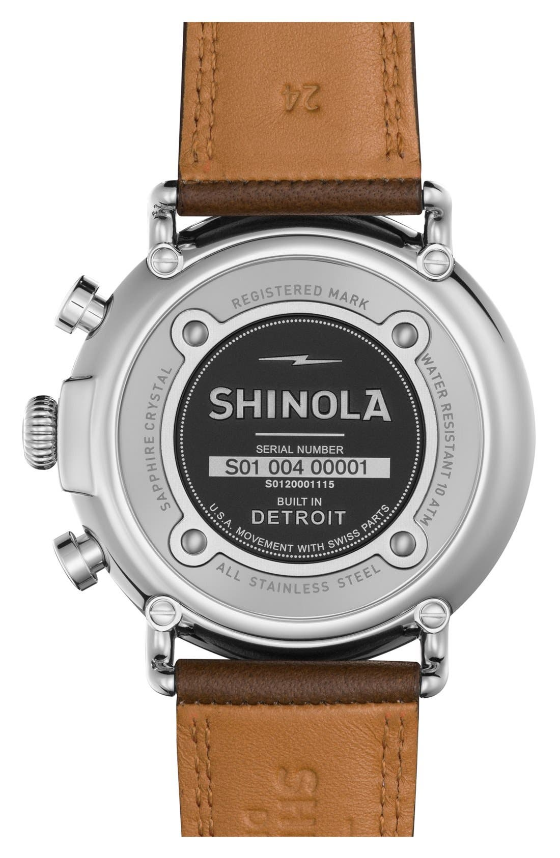 The Runwell Chrono Leather Strap Watch, 47mm,                             Alternate thumbnail 26, color,