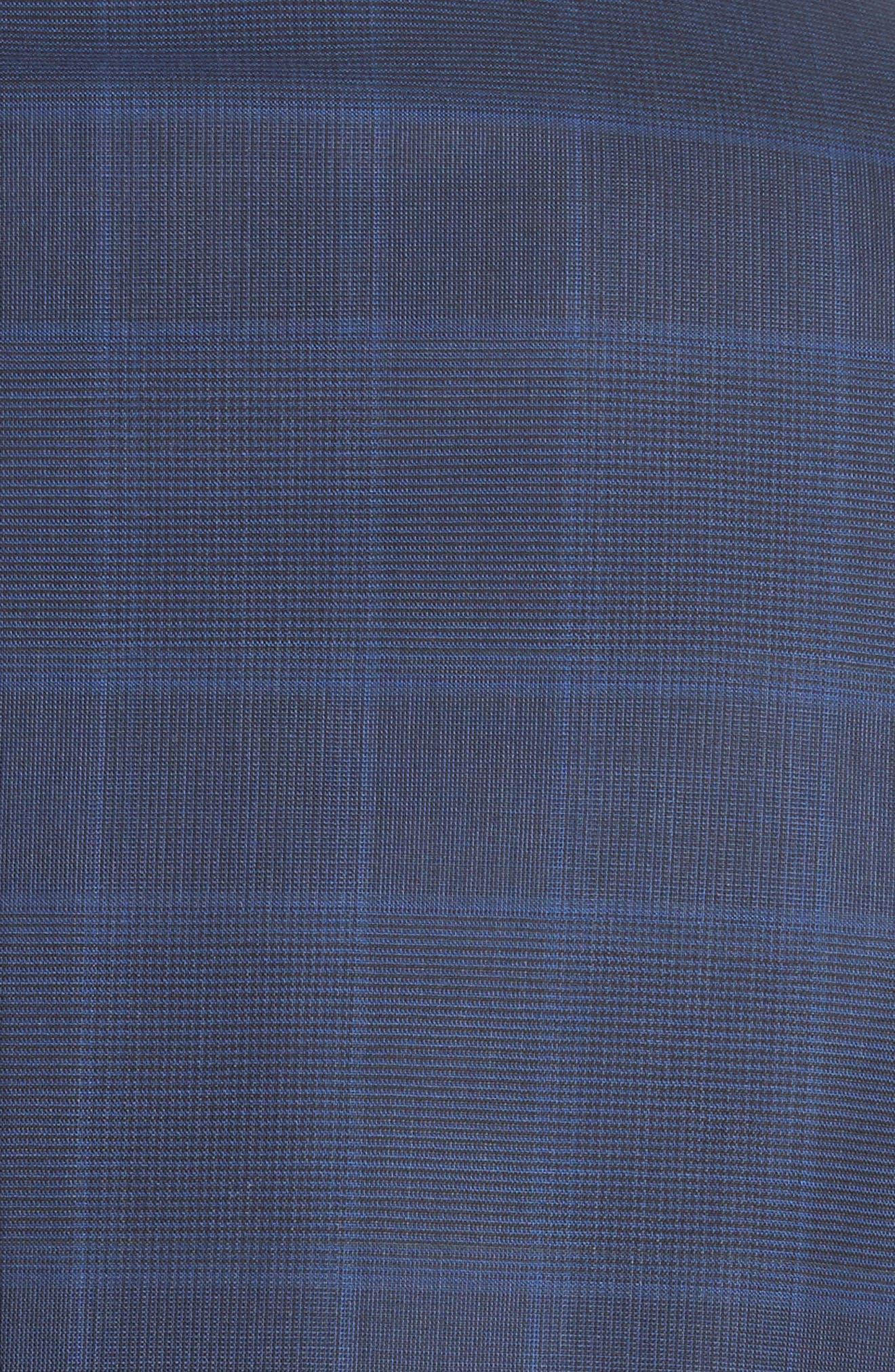 Classic Fit Plaid Wool Suit,                             Alternate thumbnail 7, color,                             410
